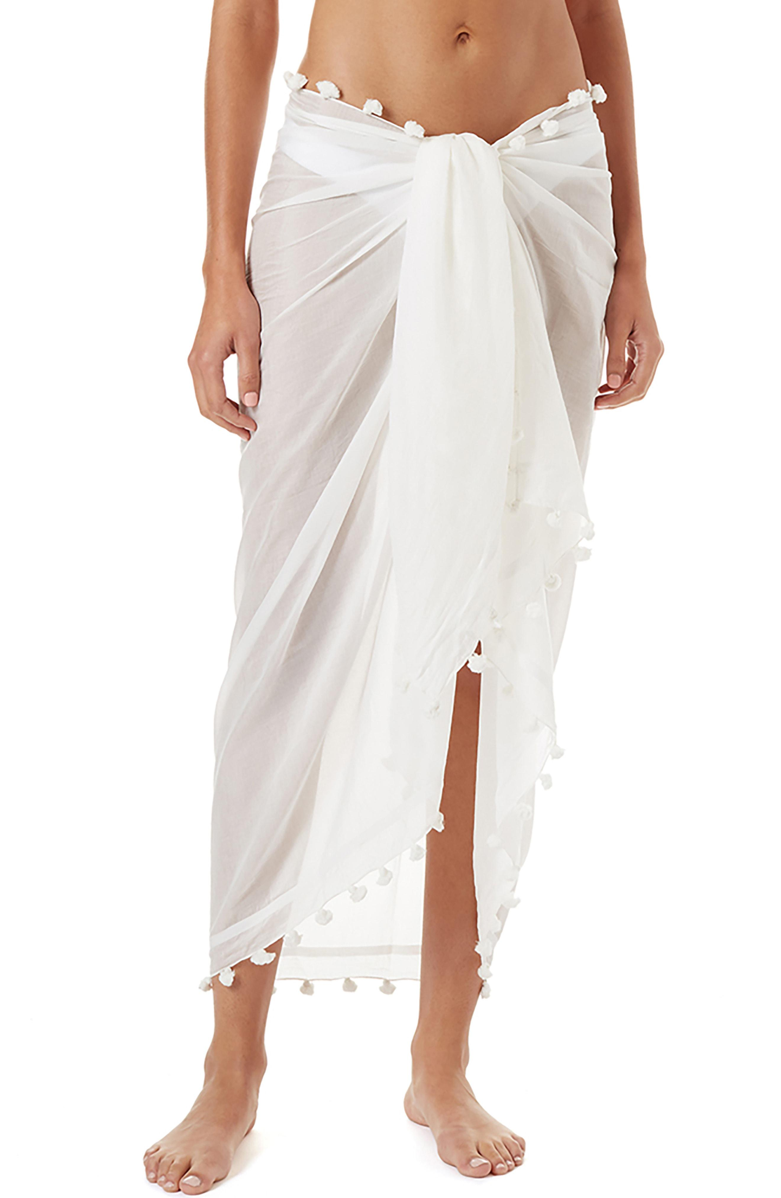 b36c97dba73a3a Lyst - Melissa Odabash Tassel Cover-up Pareo in White