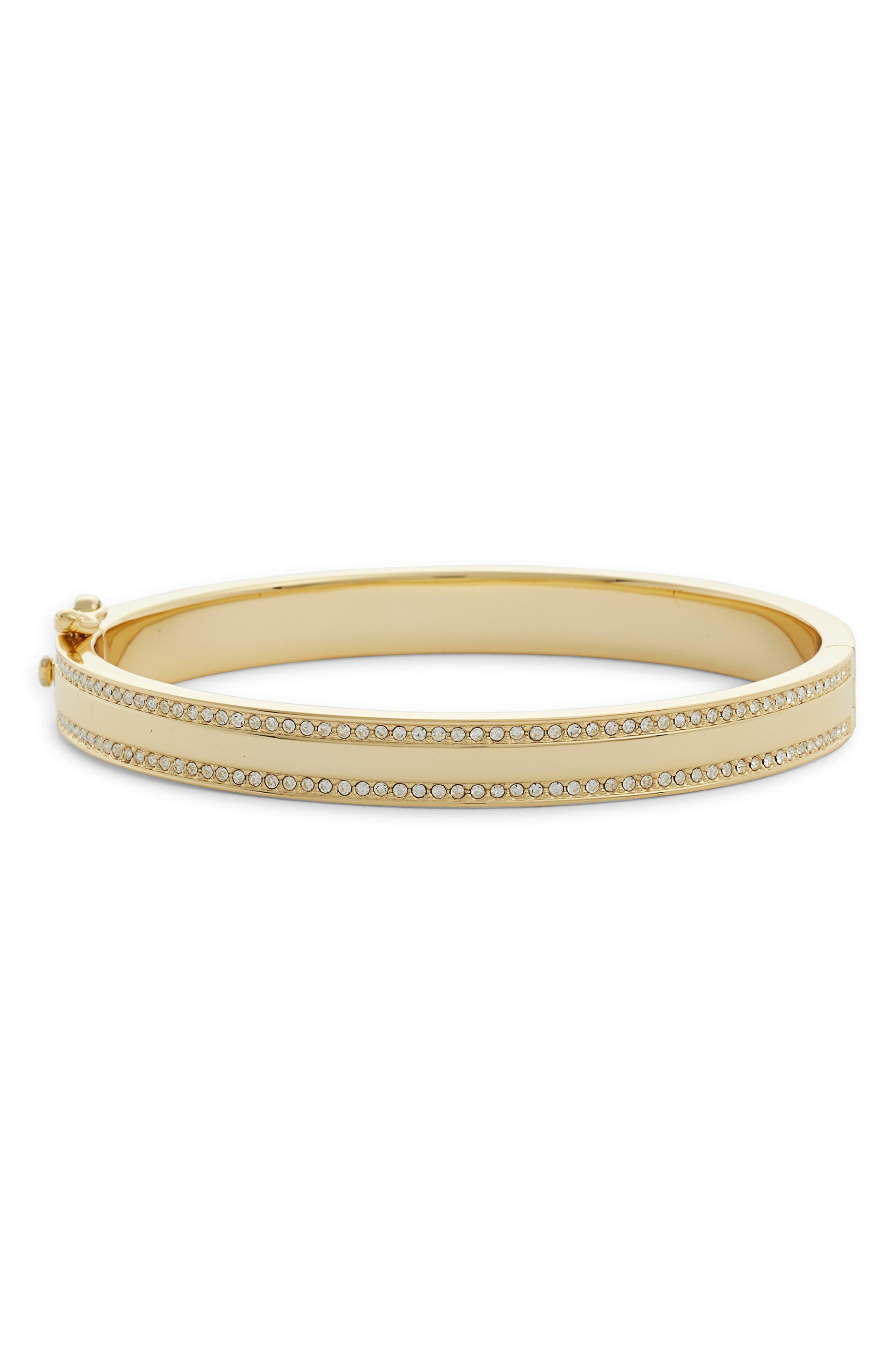 63298cee8 Lyst - Nordstrom Pavé Rim Bangle in Metallic