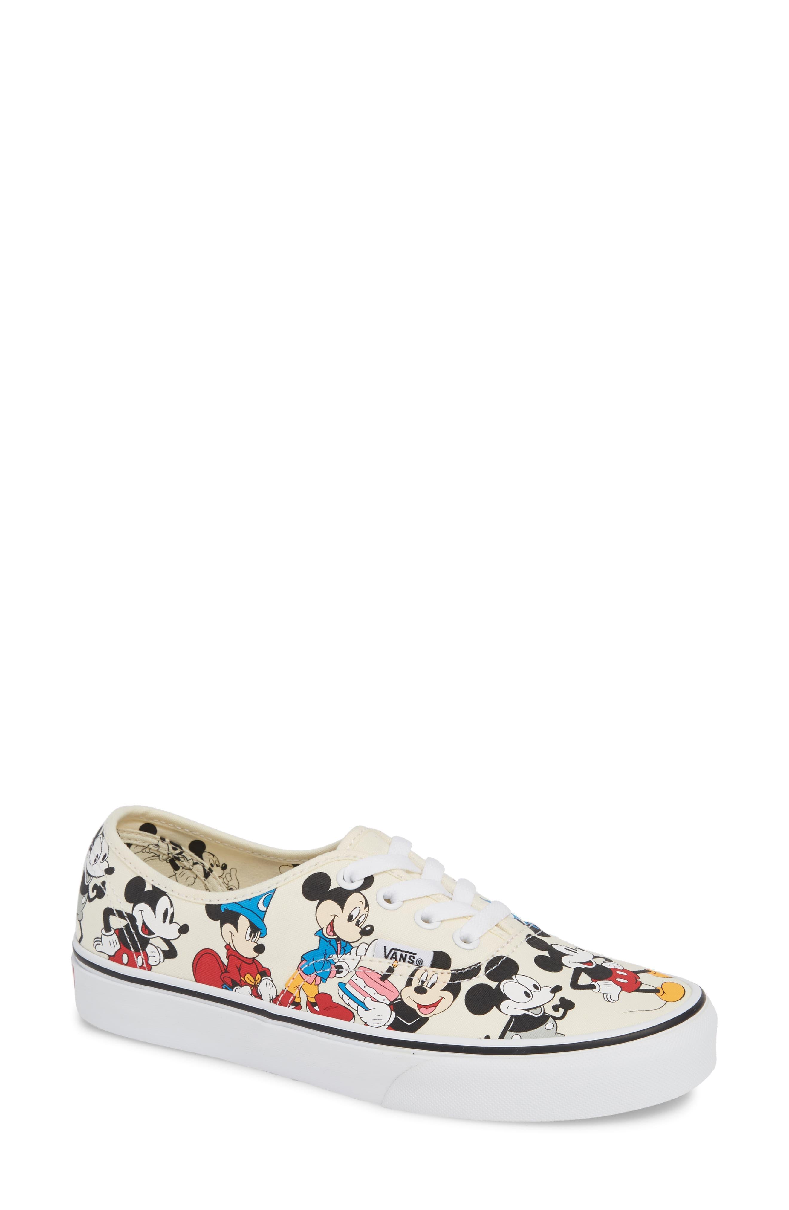 03954d5ed Vans X Disney Ua Authentic Mickey Mouse Sneaker - Lyst