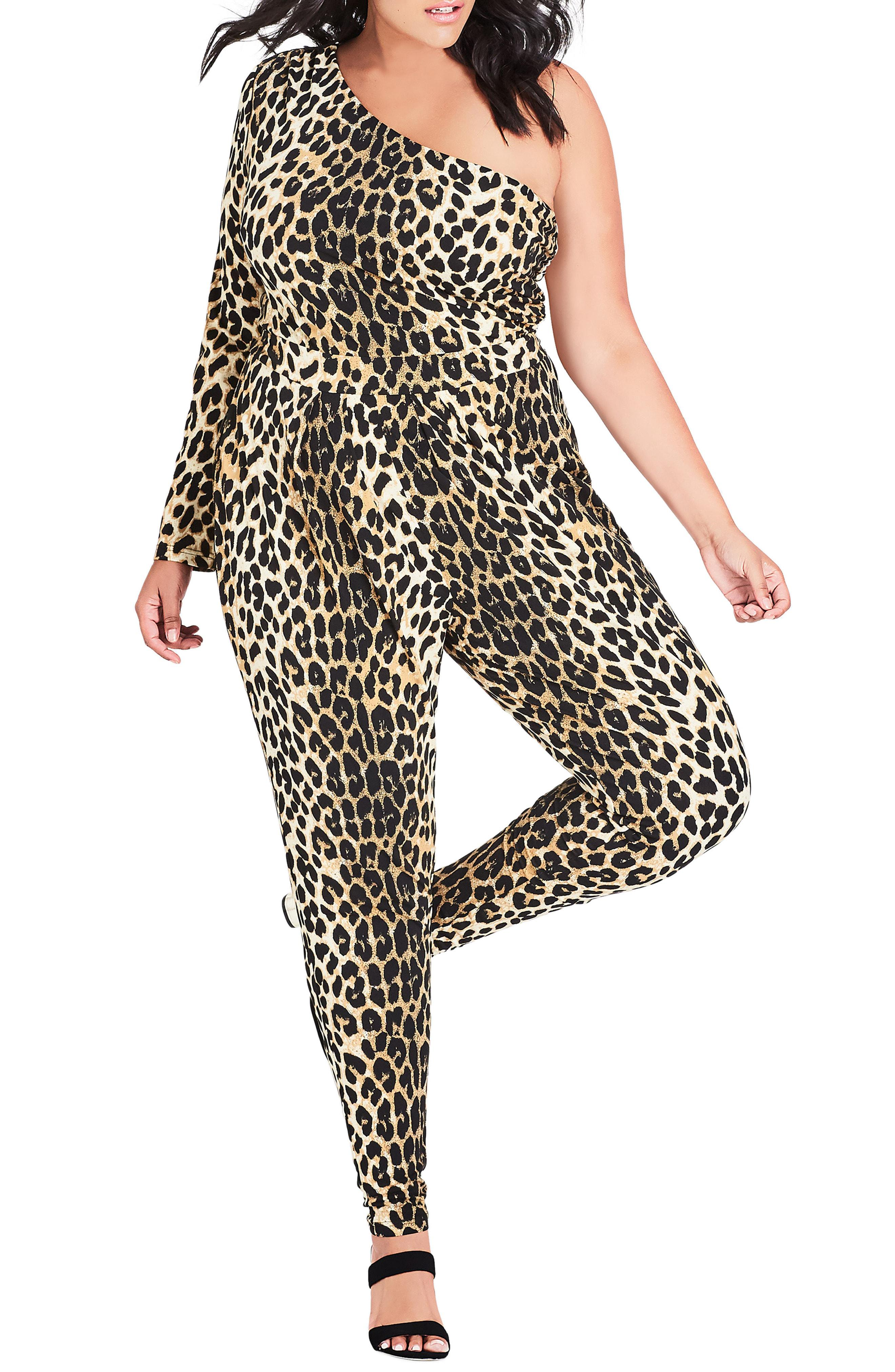 5185064a8c359 Lyst - City Chic Animal Jumpsuit in White