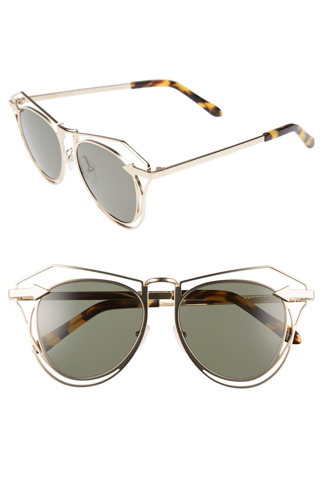 2ff7cc2d34b Lyst - Karen Walker  marguerite  52mm Sunglasses in Metallic