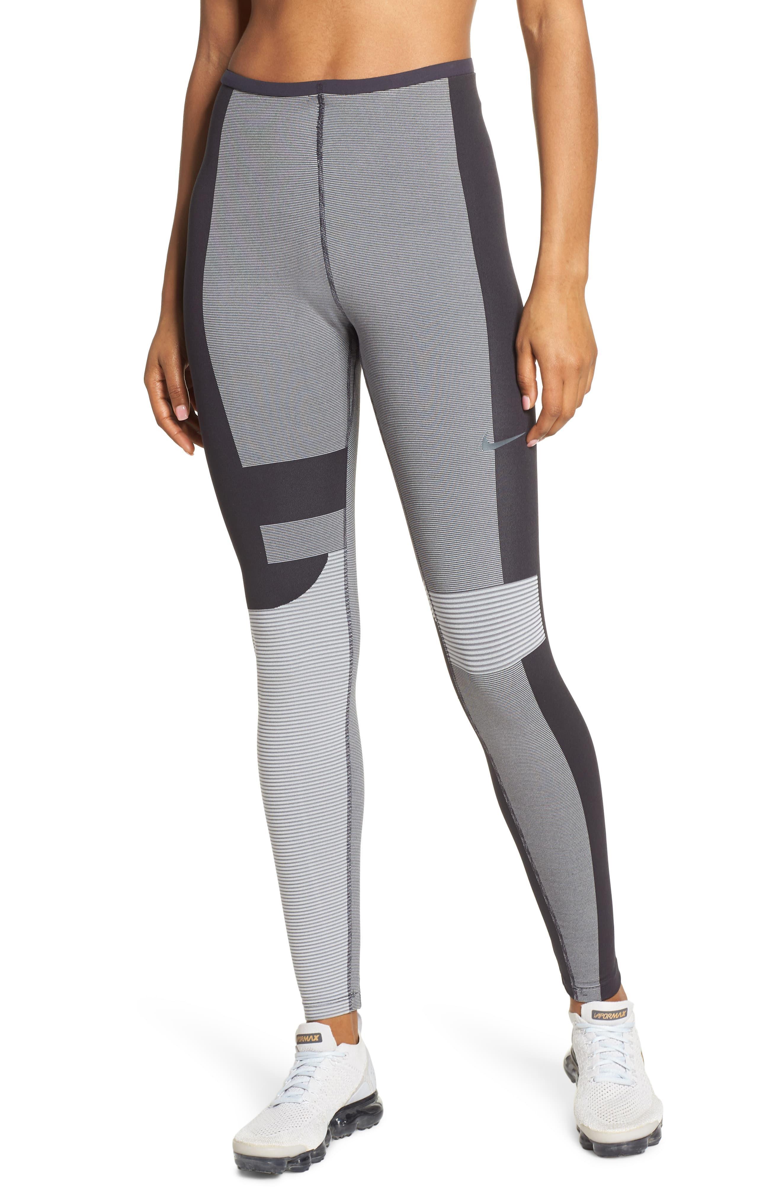 5055f71a6b0fc Nike Run Tech Pack Knit Women's Running Tights in Gray - Lyst