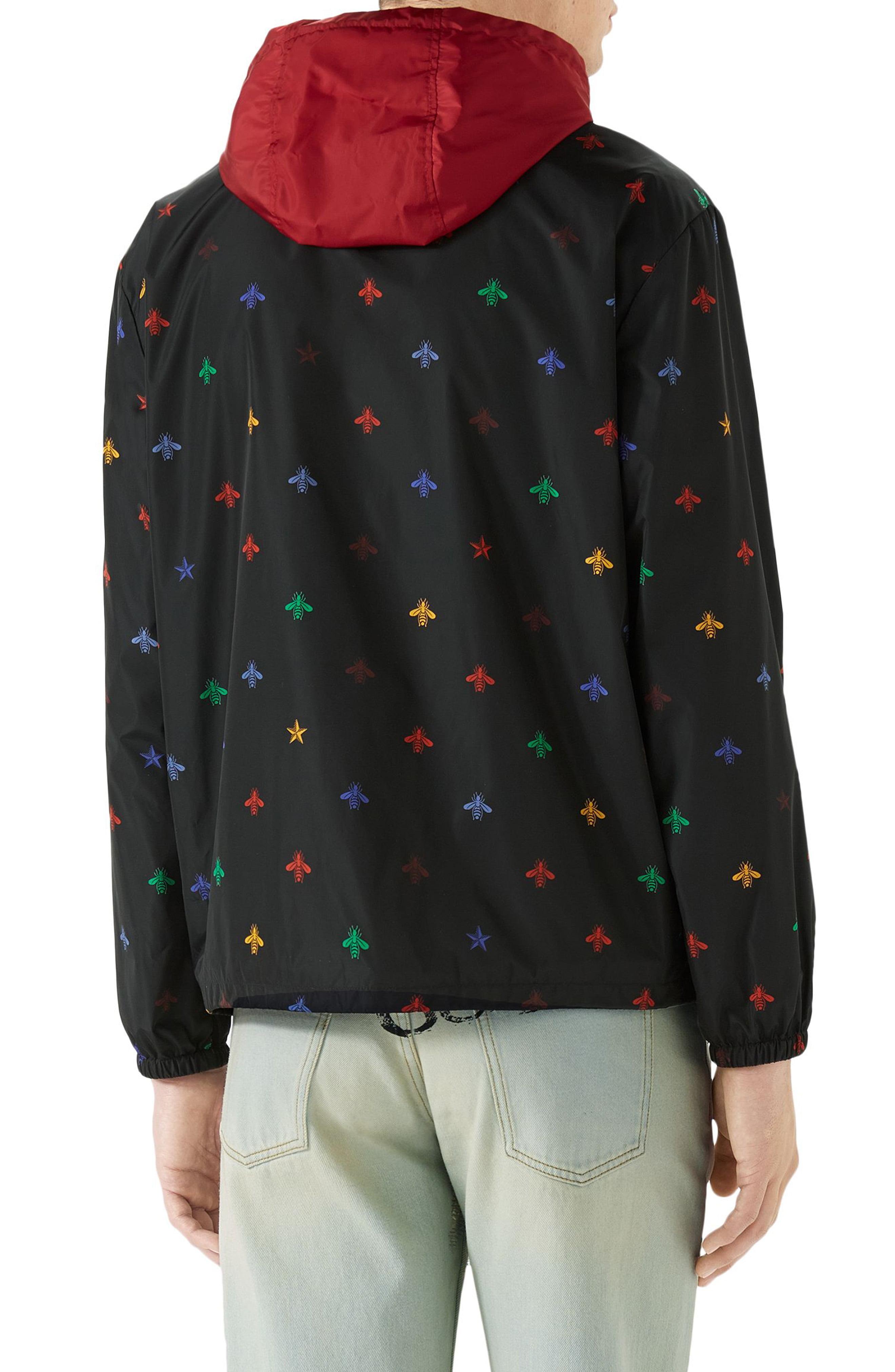 22ecca2b4cd Gucci - Black Bee Print Lightweight Jacket for Men - Lyst. View fullscreen