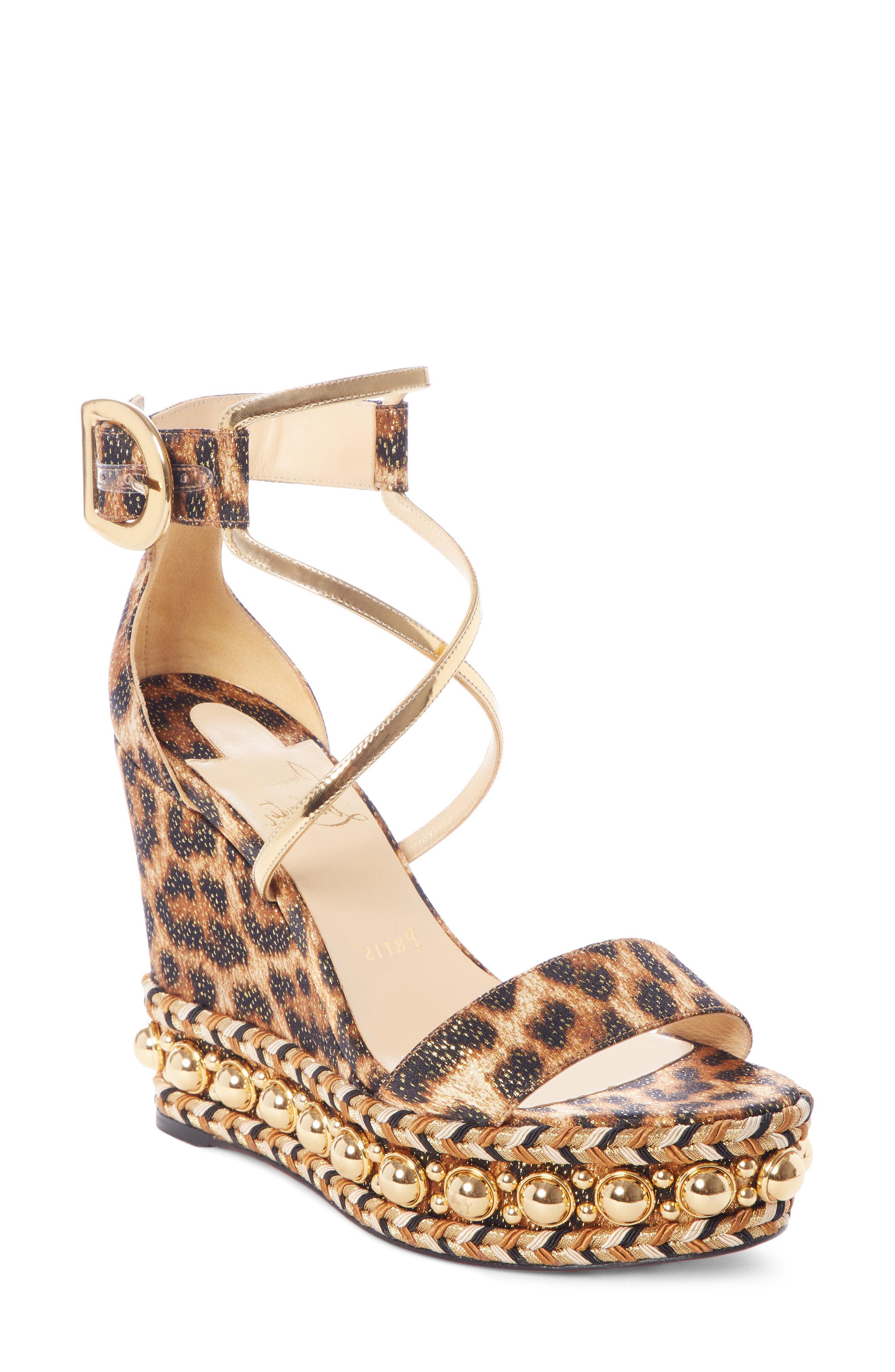 ab26eadd01e7 Christian Louboutin. Women s Chocazeppa Ornament Platform Wedge Sandal