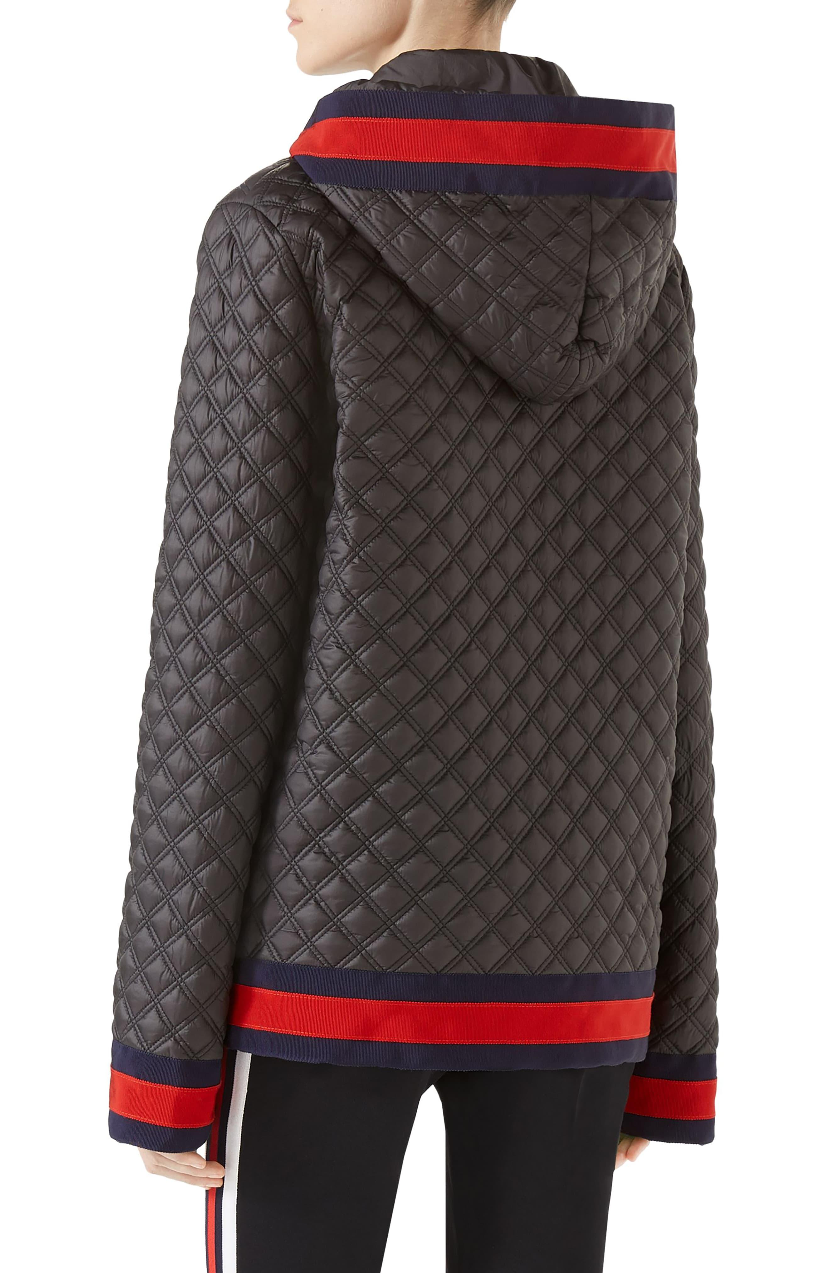 c82ede1f6 Gucci Quilted Caban With Removable Hood in Black - Lyst