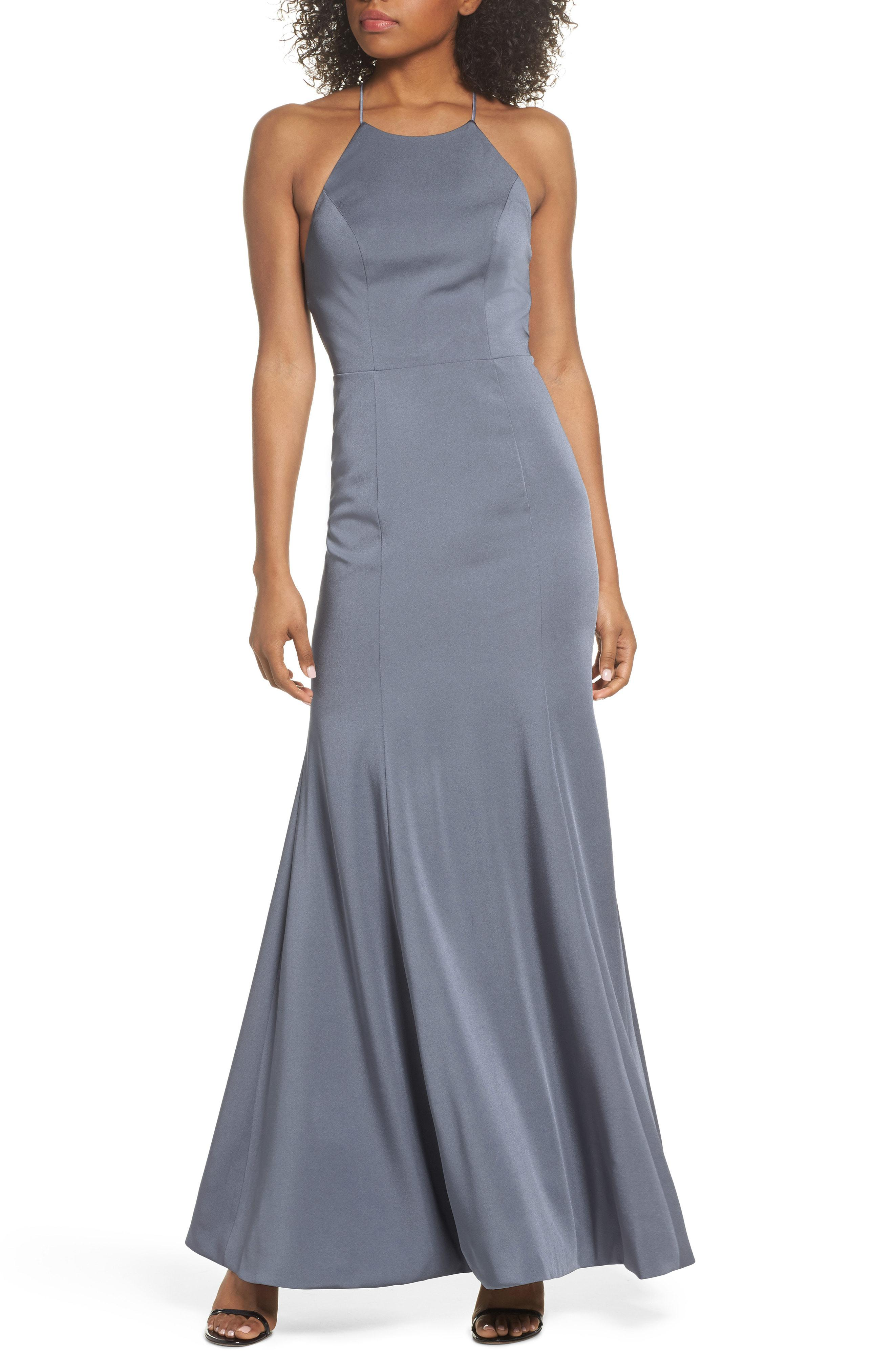 7023b71f974 Jenny Yoo. Women s Naomi Luxe Crepe Halter Gown