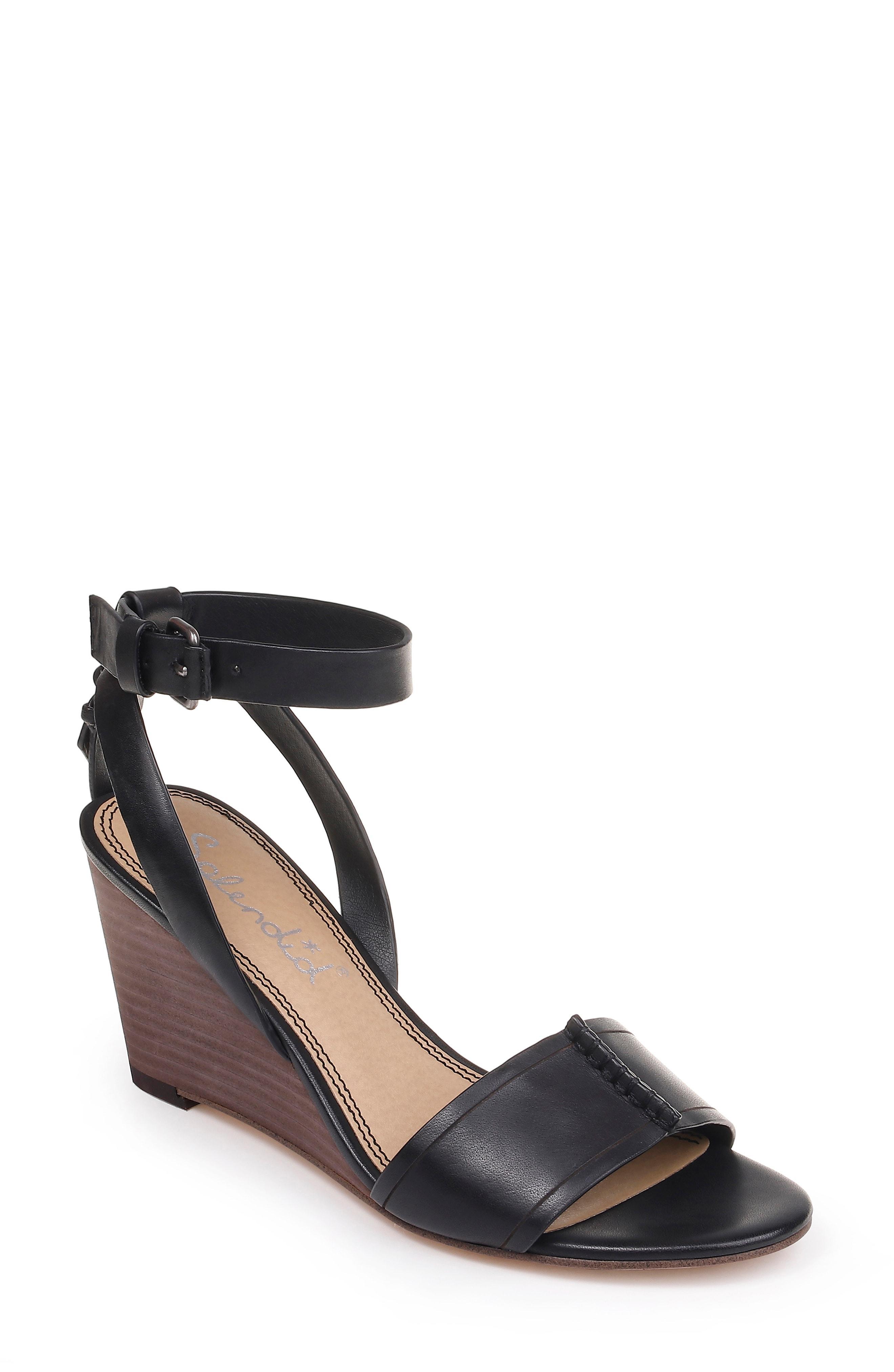 13f3a2f566d20 Lyst - Splendid Tadeo Wedge Ankle Strap Sandal in Black