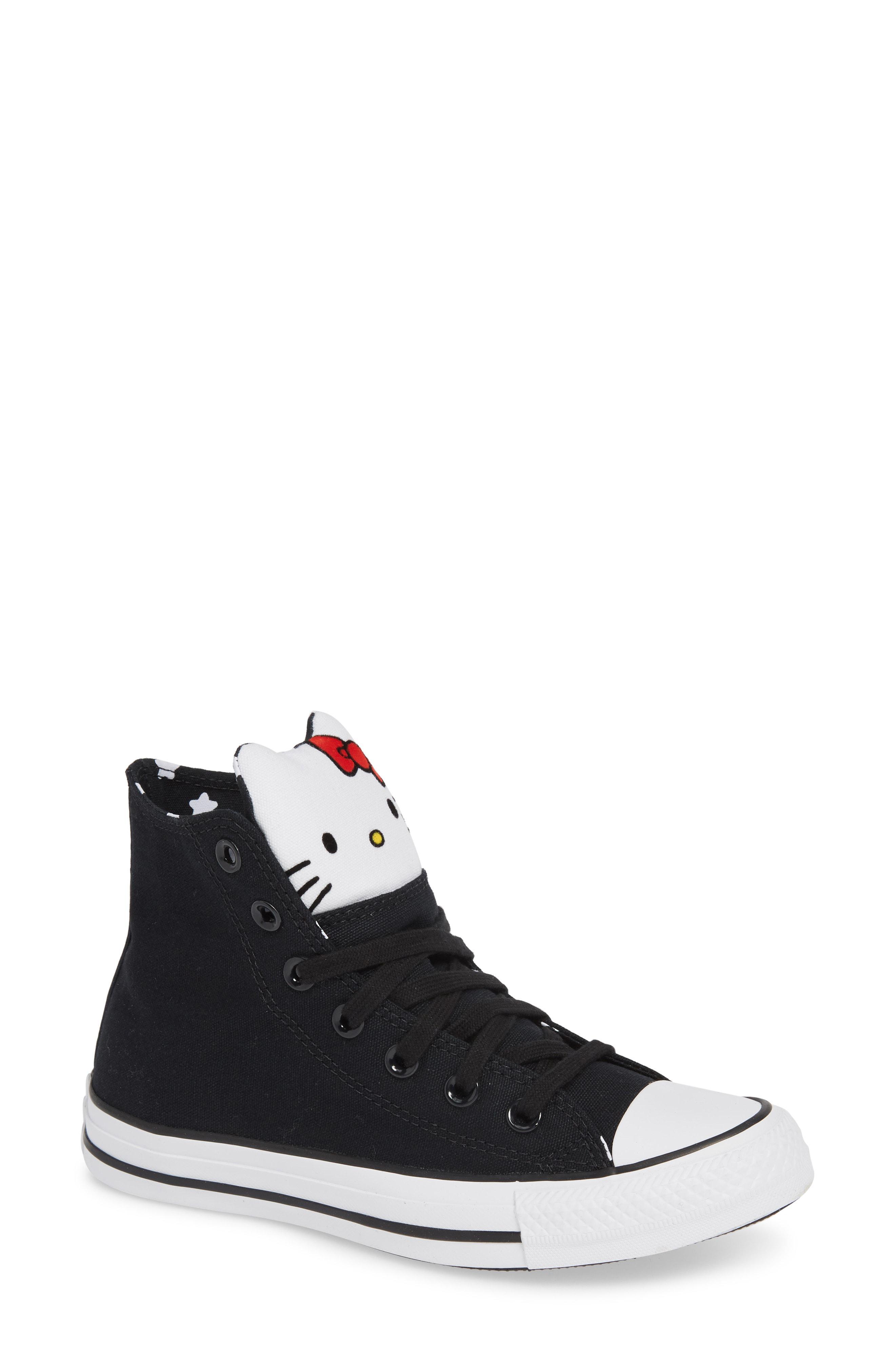 4d18116a4d05e6 Converse. Women s Black X Hello Kitty Chuck Taylor All Star High Top Sneaker