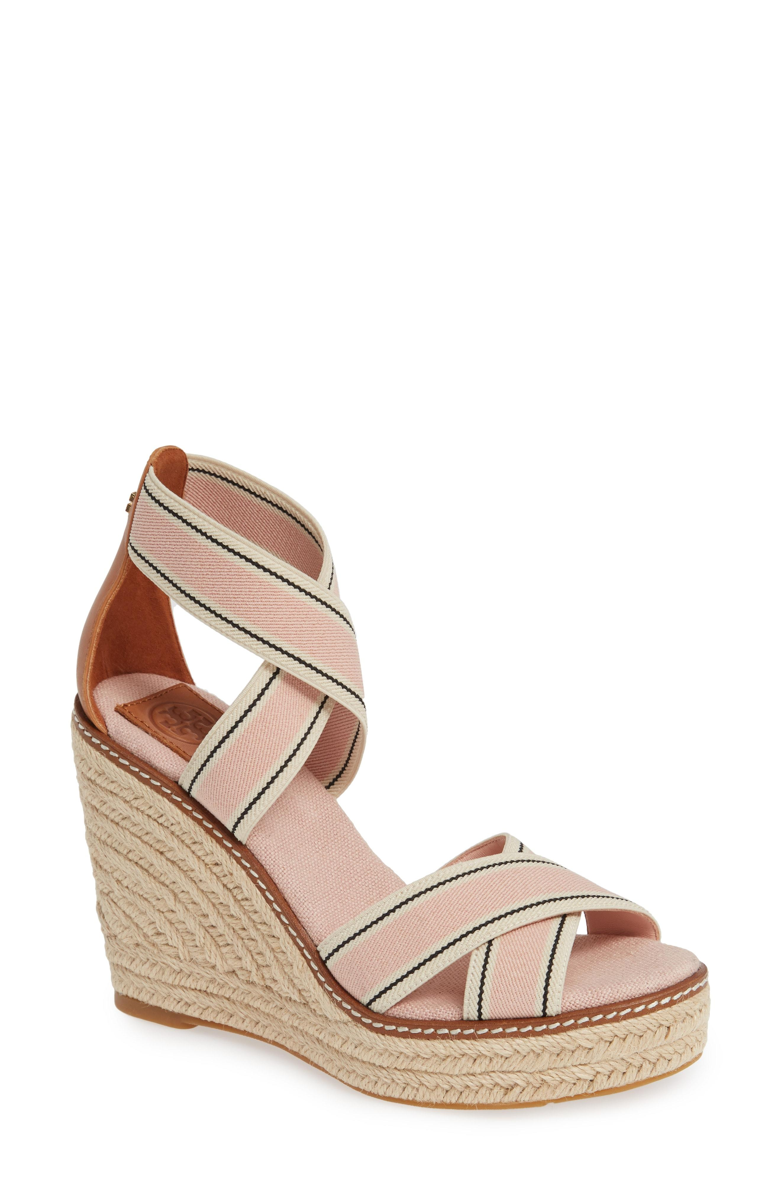 67f5629ec4651f Lyst - Tory Burch Frieda Espadrille Wedge Sandal in Brown