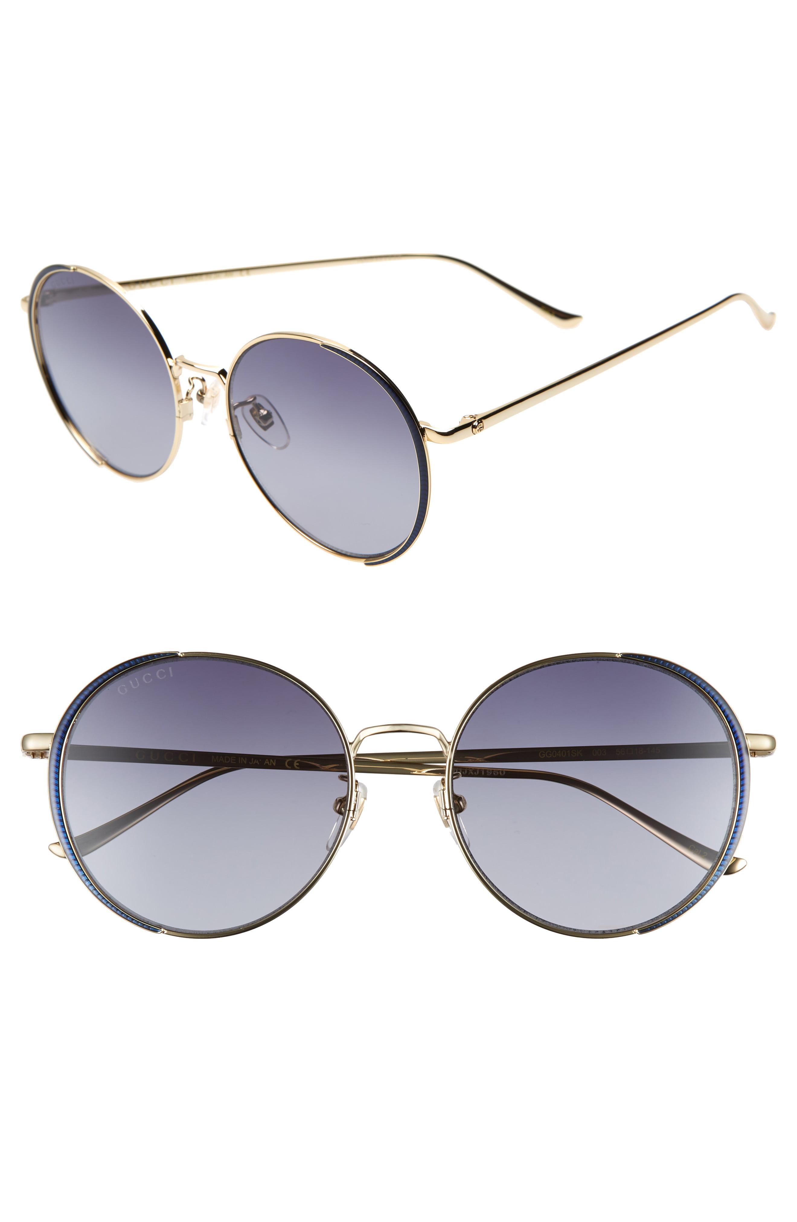 a642abc5d0f92 Gucci. Women s 56mm Gradient Round Sunglasses