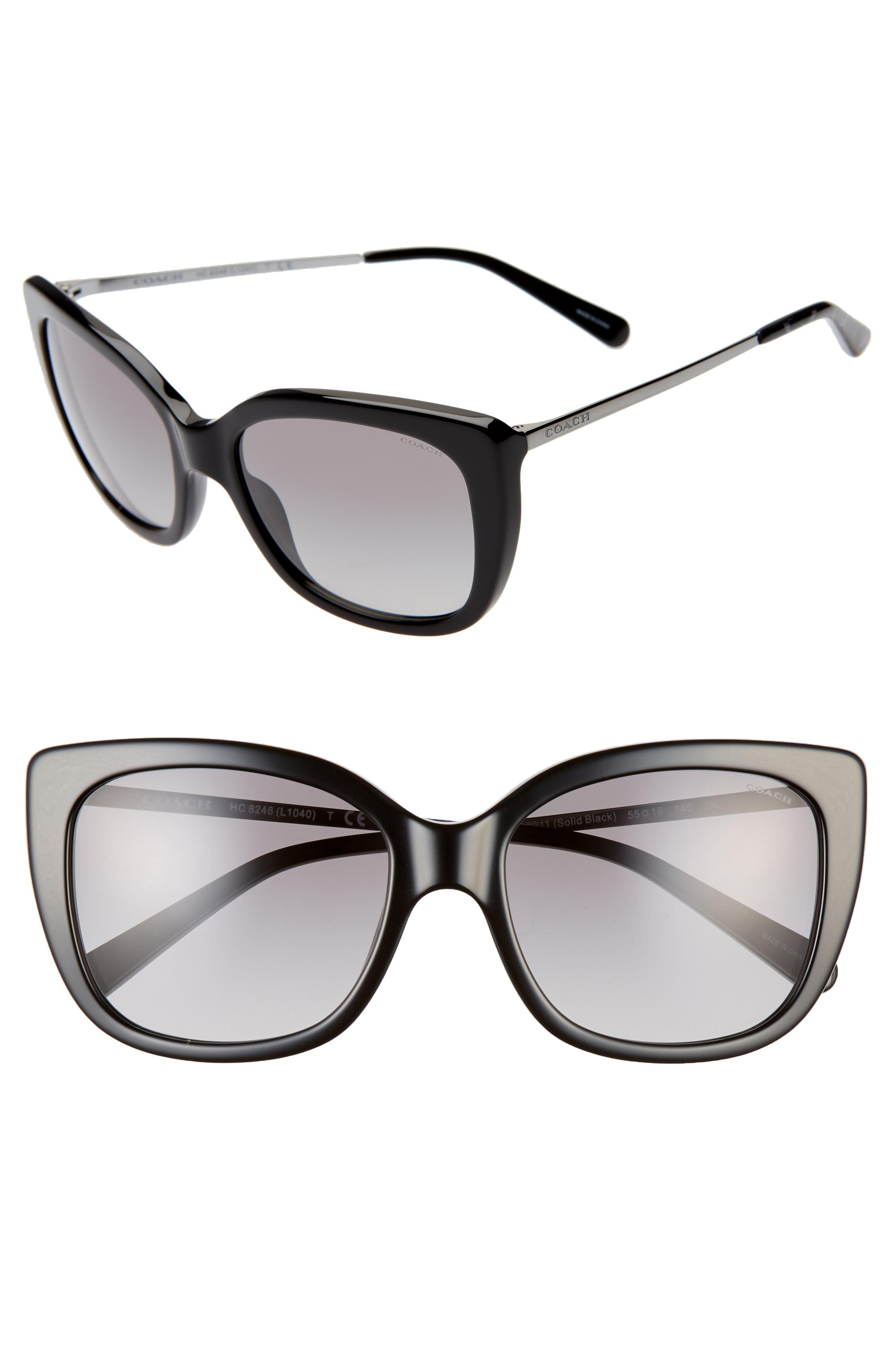 4d003a1238 COACH - Black 55mm Cat Eye Sunglasses - Lyst. View fullscreen