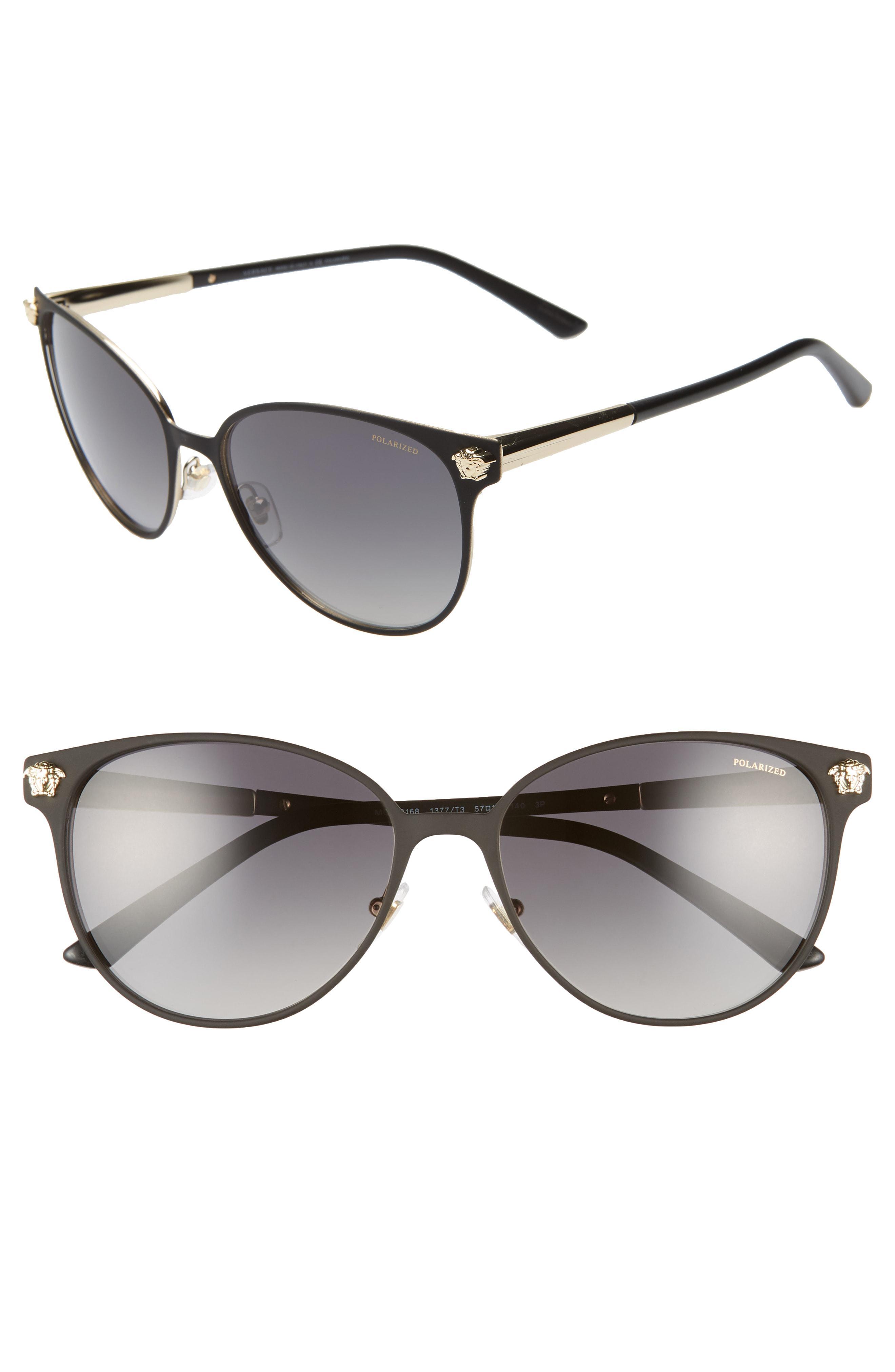 0b77ee95cd05 Lyst - Versace 57mm Gradient Cat Eye Sunglasses - in Gray