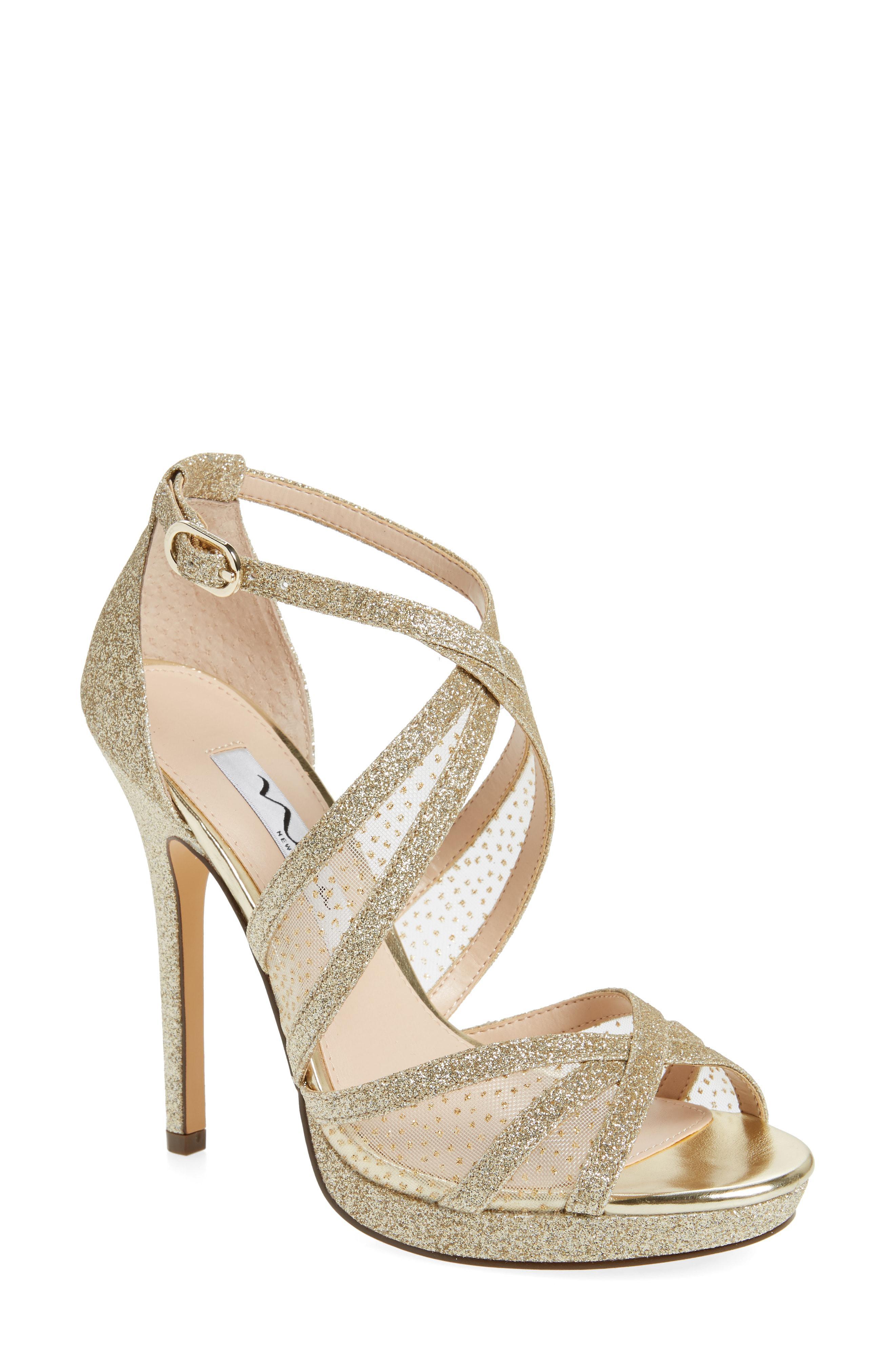 e507e4d4dde Lyst - Nina Fenna Strappy Platform Sandal in Metallic
