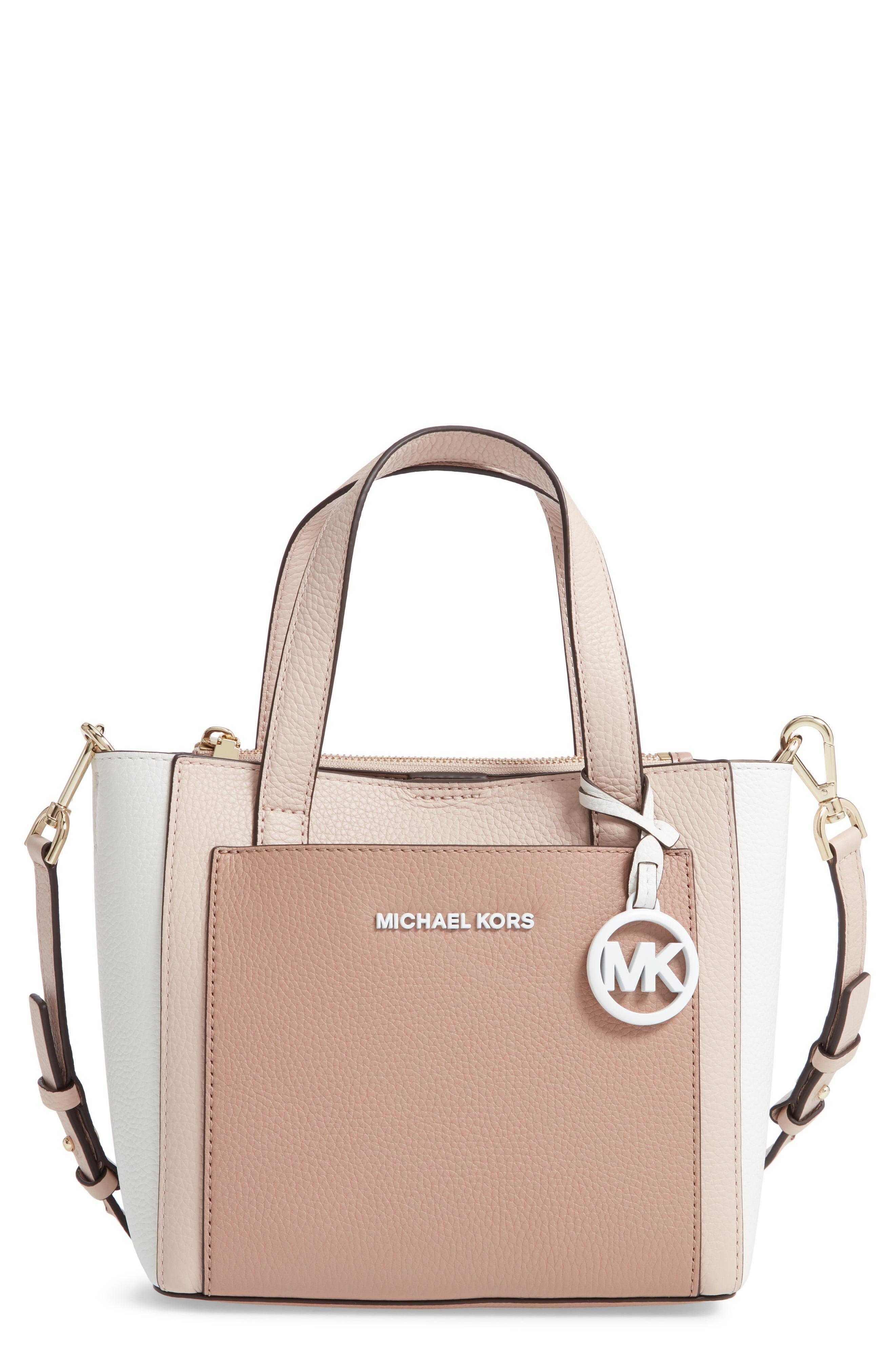 8c9752a566b786 MICHAEL Michael Kors. Women's Pink Small Gemma Colorblock Leather Crossbody  Bag