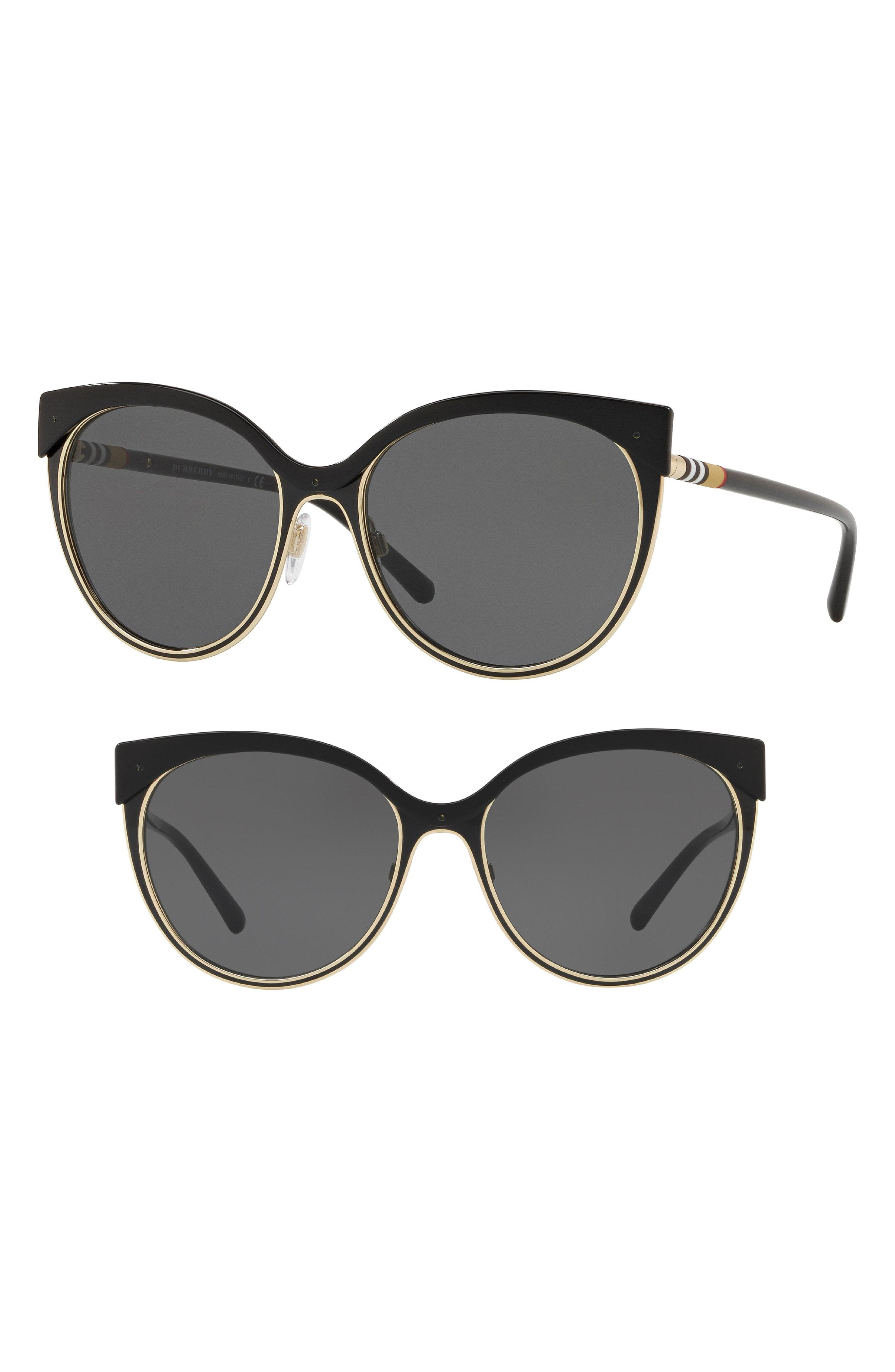 f65357e9e5a Burberry. Women s Heritage 55mm Cat Eye Sunglasses -