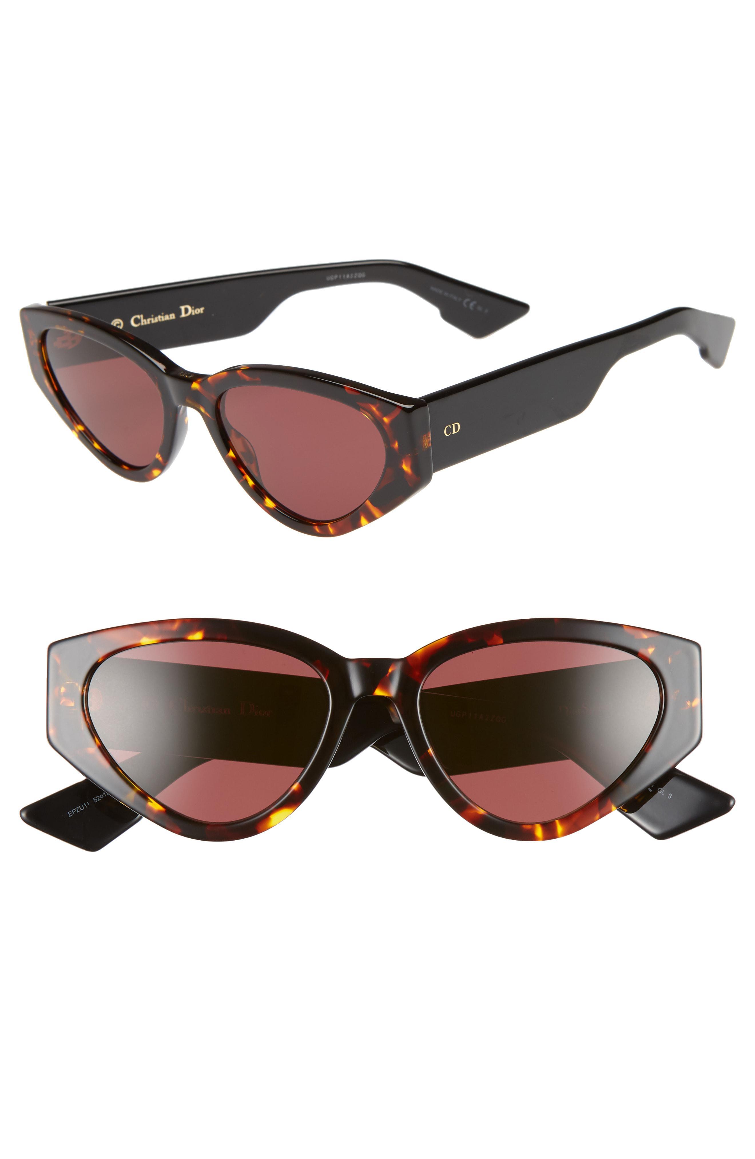 68592d3a66 Dior. Women s Spirit 2 52mm Cat Eye Sunglasses