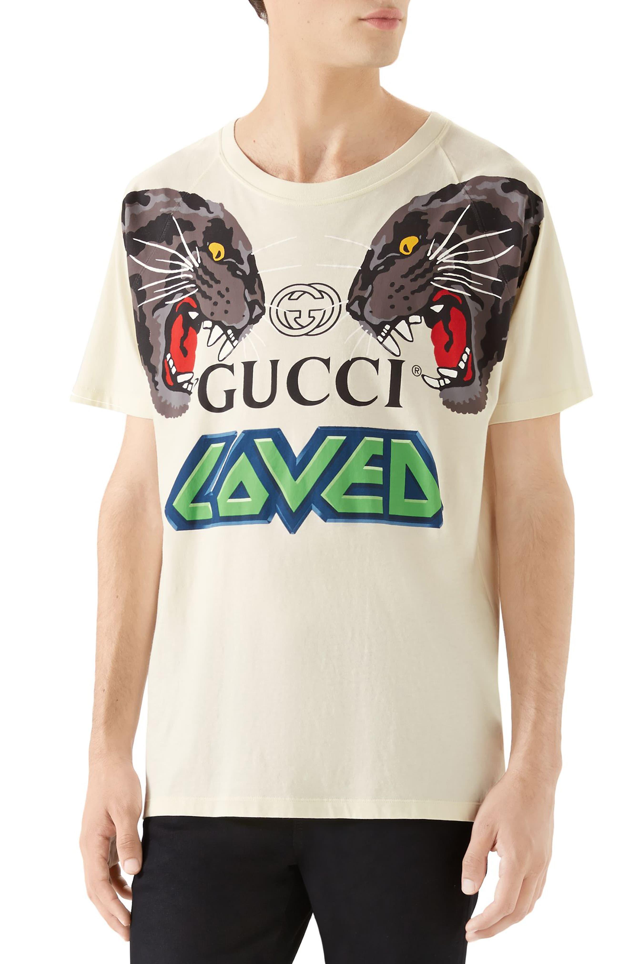 102d5deb1 Gucci Tiger Print T-shirt in Green for Men - Lyst