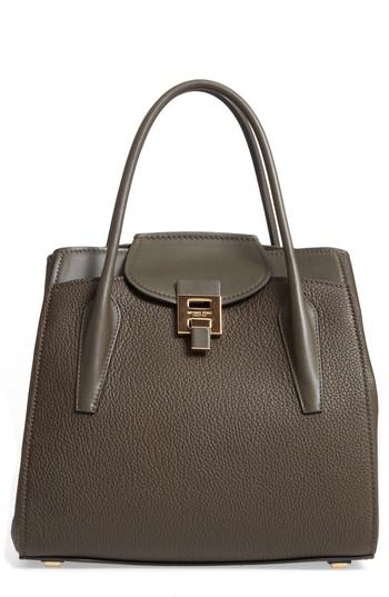 be1fe2024d9cf Lyst - Michael Kors Large Bancroft Leather Top Handle Satchel in Green