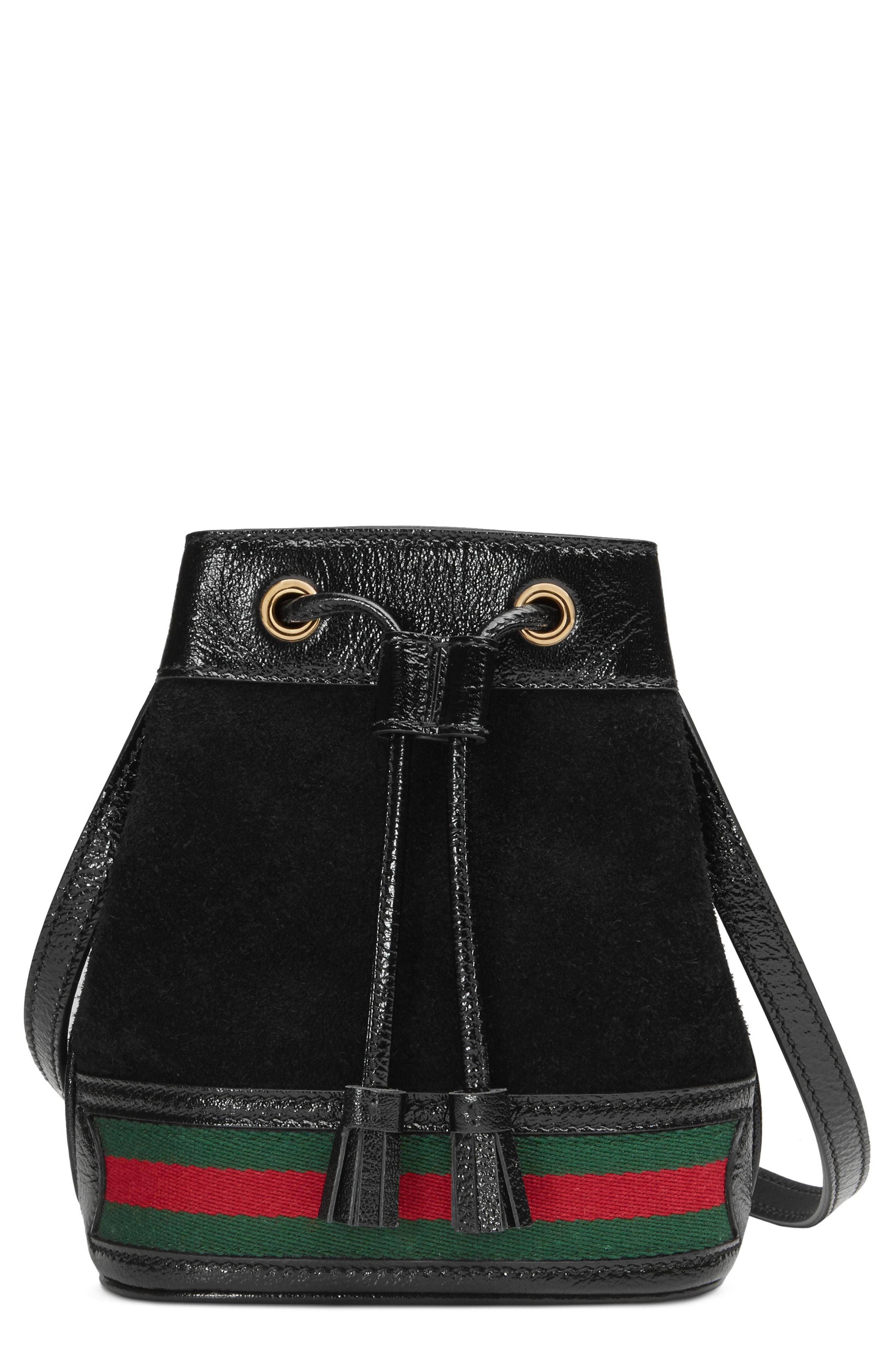 Lyst - Gucci Mini Ophidia Suede   Leather Bucket Bag - in Black acd44b0827