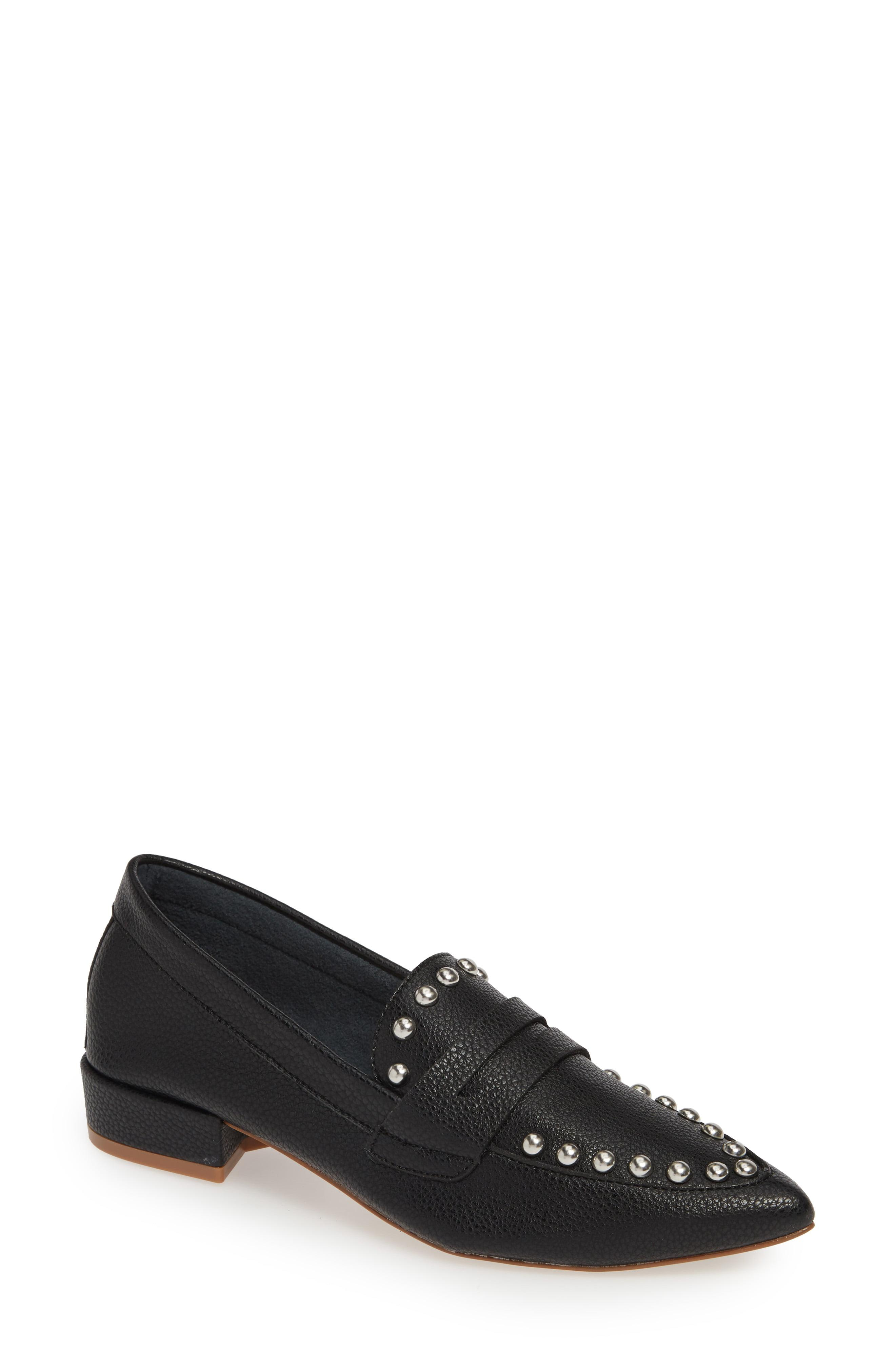 9e1f7174488 Lyst - Kensie Iroi Studded Loafer in Black