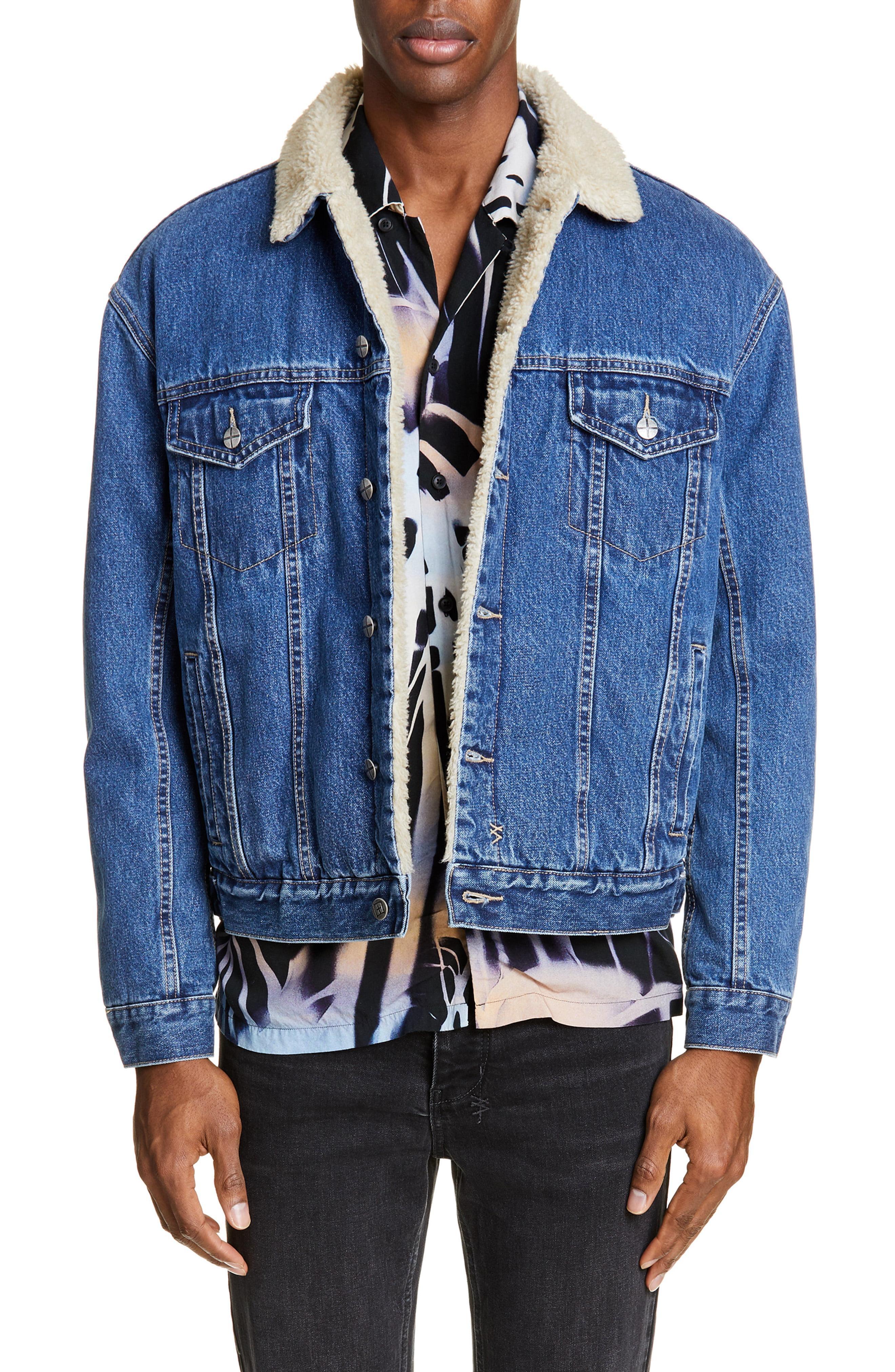 5424585add Lyst - Ksubi Fleece Lined Denim Jacket in Blue for Men