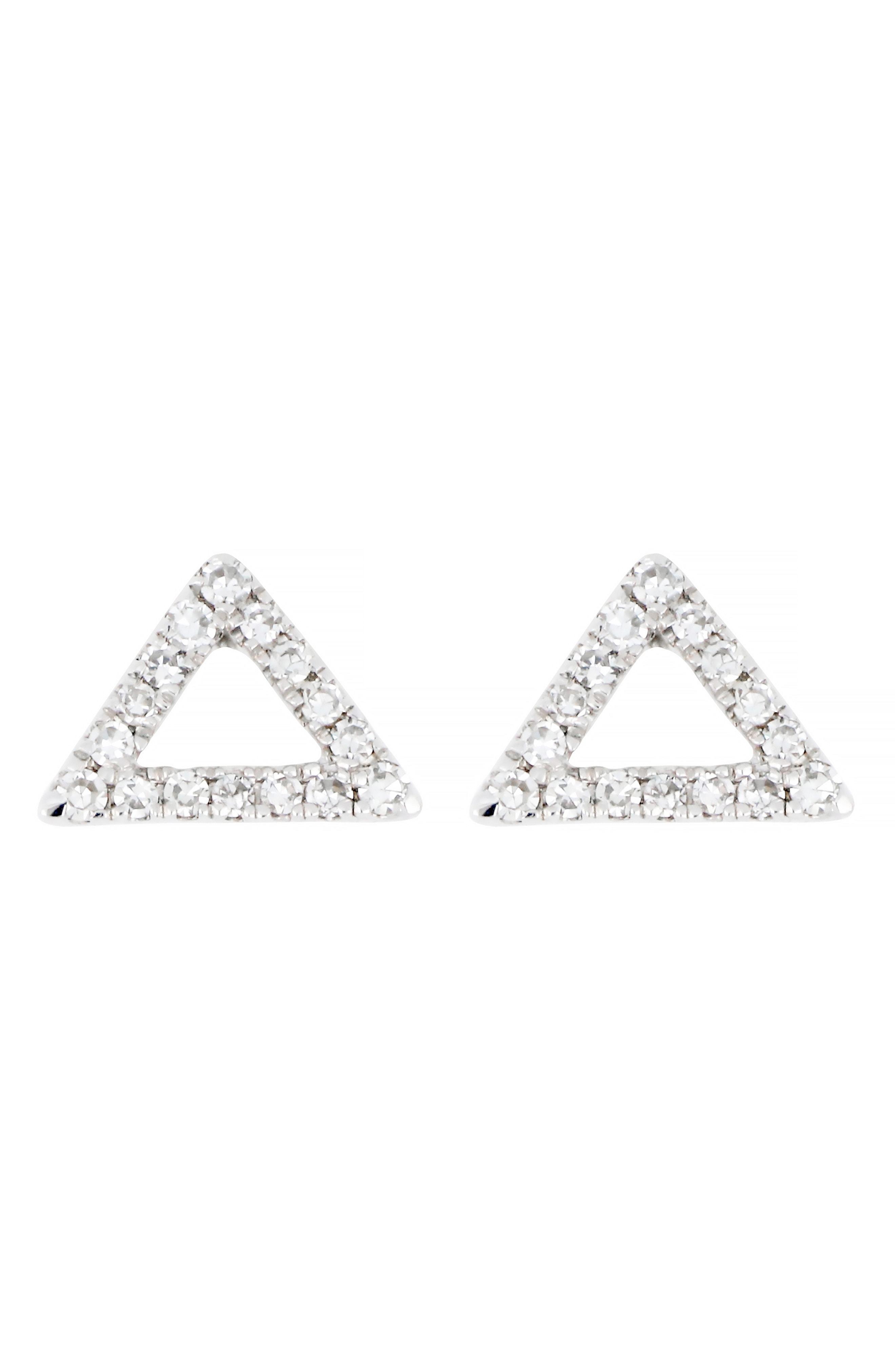 cd85a7bd4 CARRIERE JEWELRY. Women's Metallic Carriere Diamond Open Triangle Stud  Earrings ...