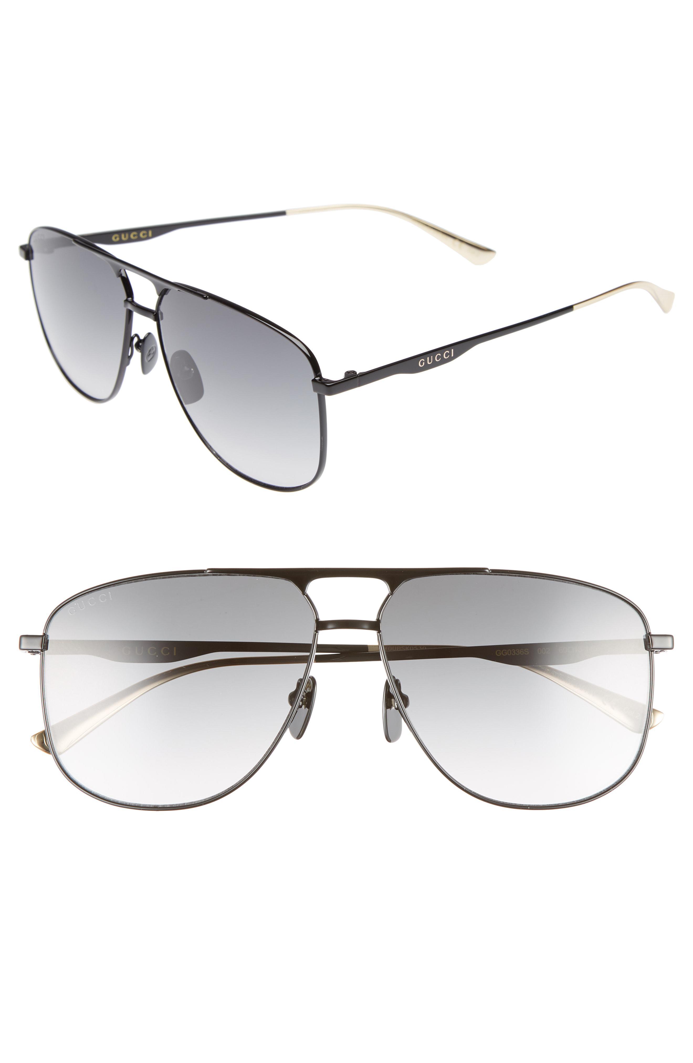 174614ea8f Lyst - Gucci 80s Monocolor 60mm Aviator Sunglasses - for Men