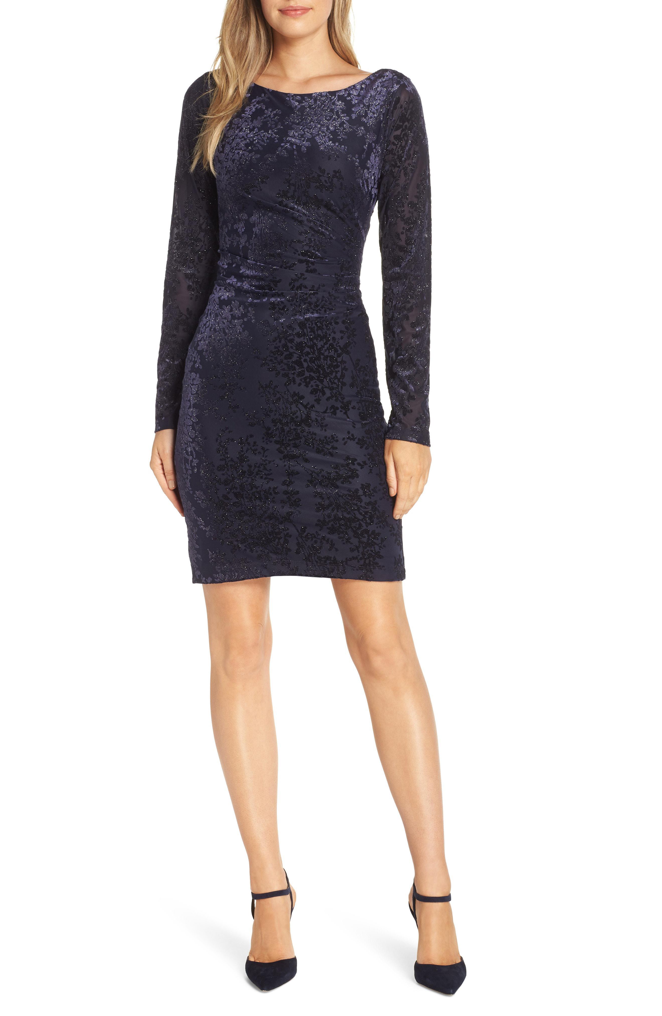 d6cc9cc5253f99 Lyst - Vince Camuto Floral Sheath Dress in Blue