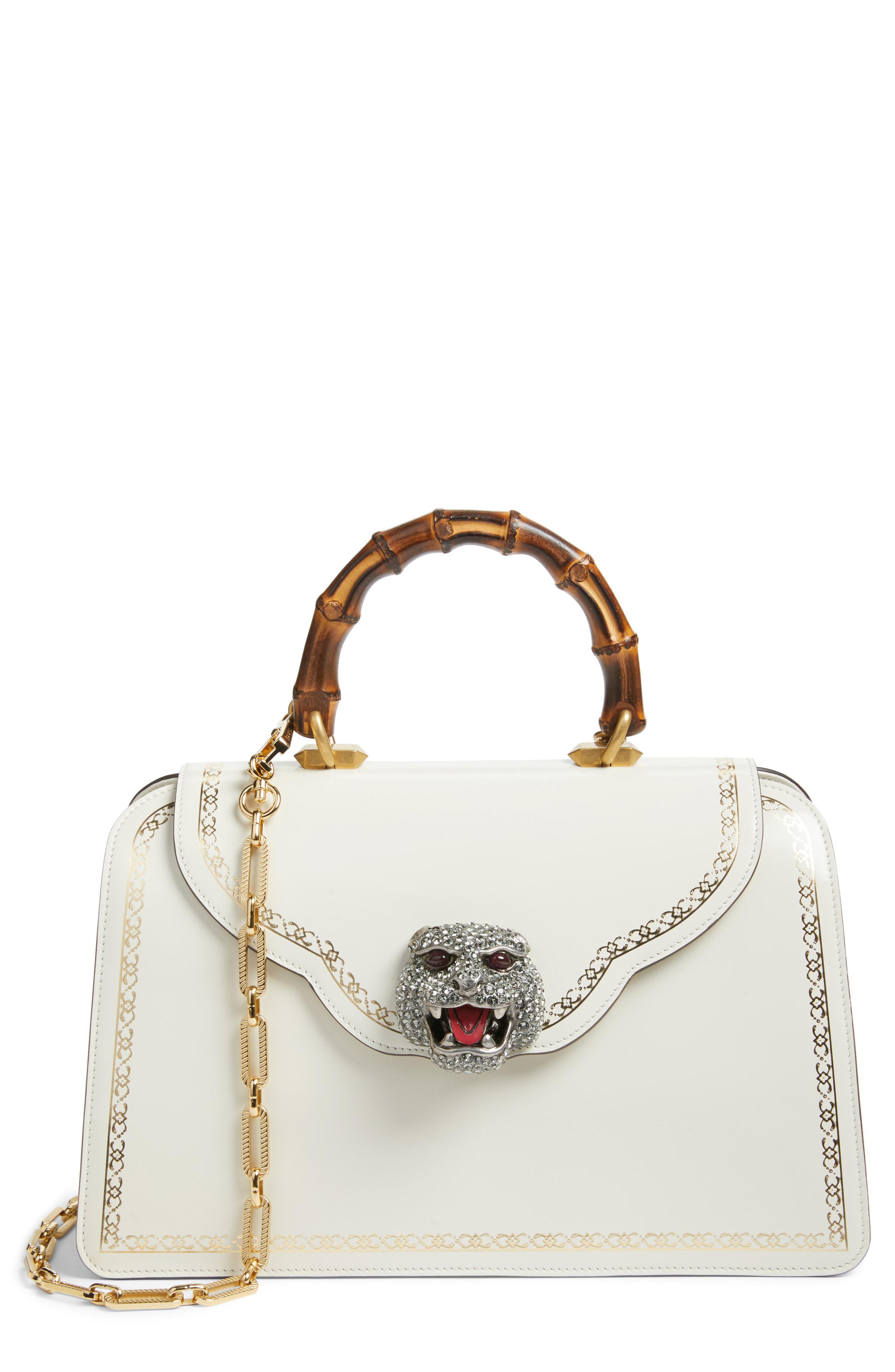 0923737b1a1 Lyst - Gucci Thiara Medium Leather Top Handle Bag in White