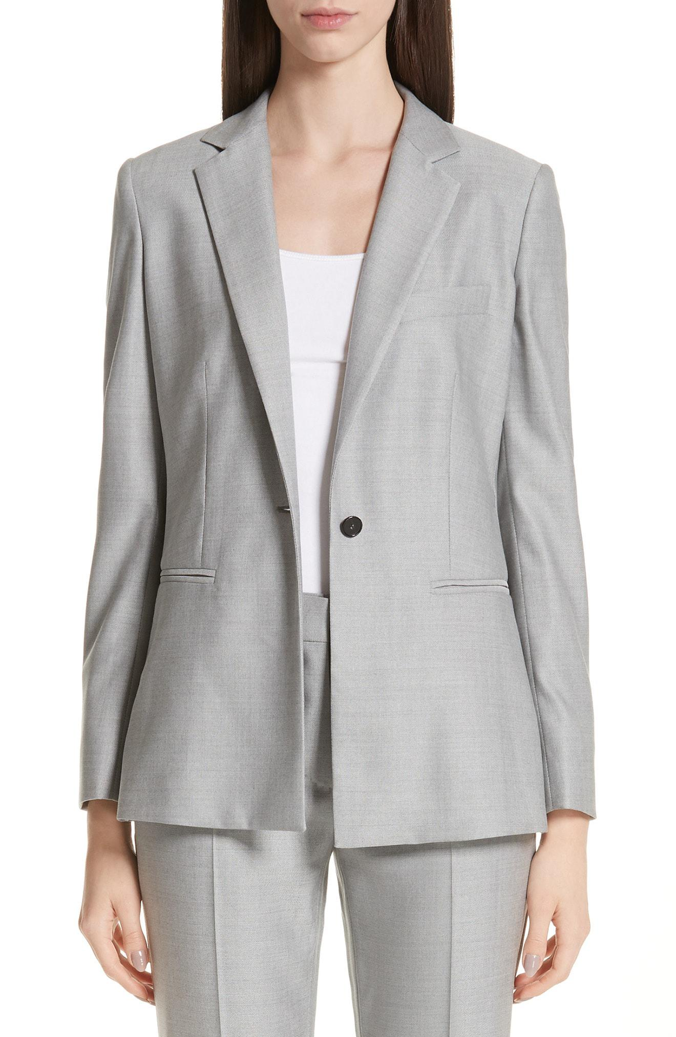 e07b1a6f90b3 Max Mara Tosca Stretch Wool & Silk Jacket in Gray - Lyst