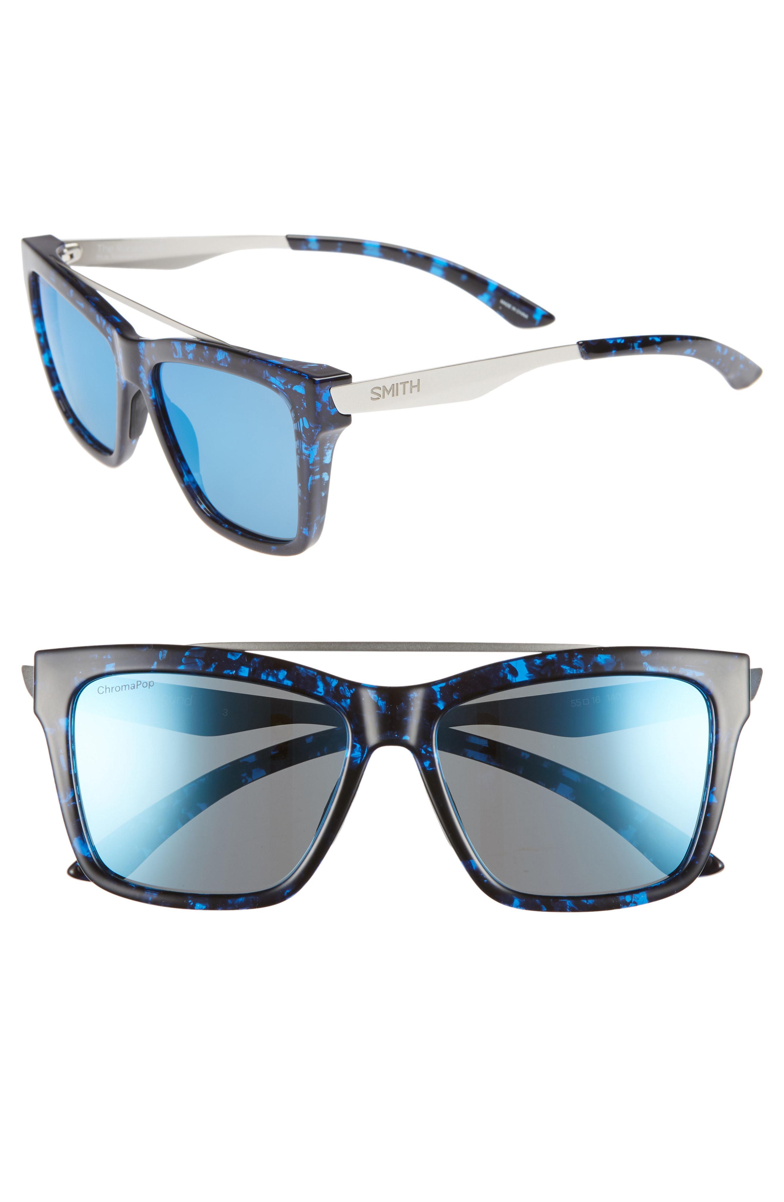 24bc432608 Smith - Blue The Runaround 55mm Chromapop(tm) Polarized Sunglasses - -  Lyst. View fullscreen