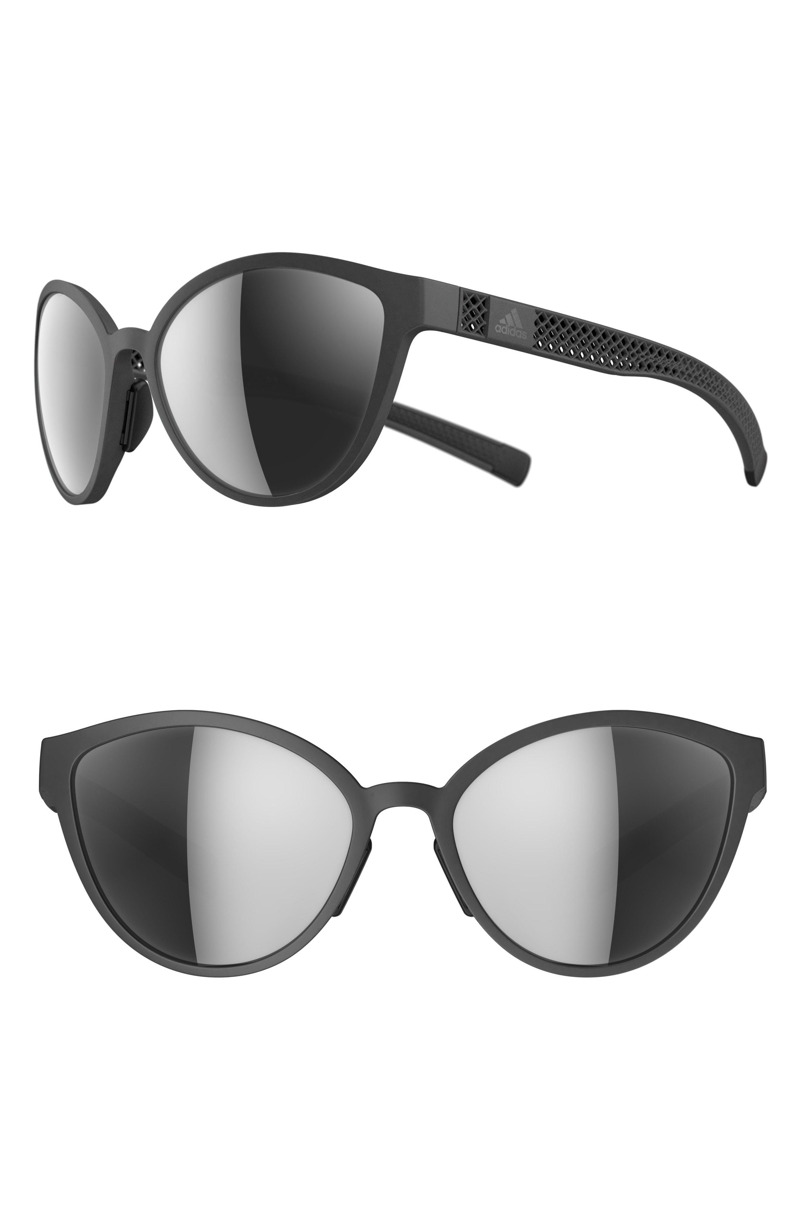 ac16ad73eb adidas. Women s Tempest 3dx 56mm Mirrored Cat Eye Running Sunglasses