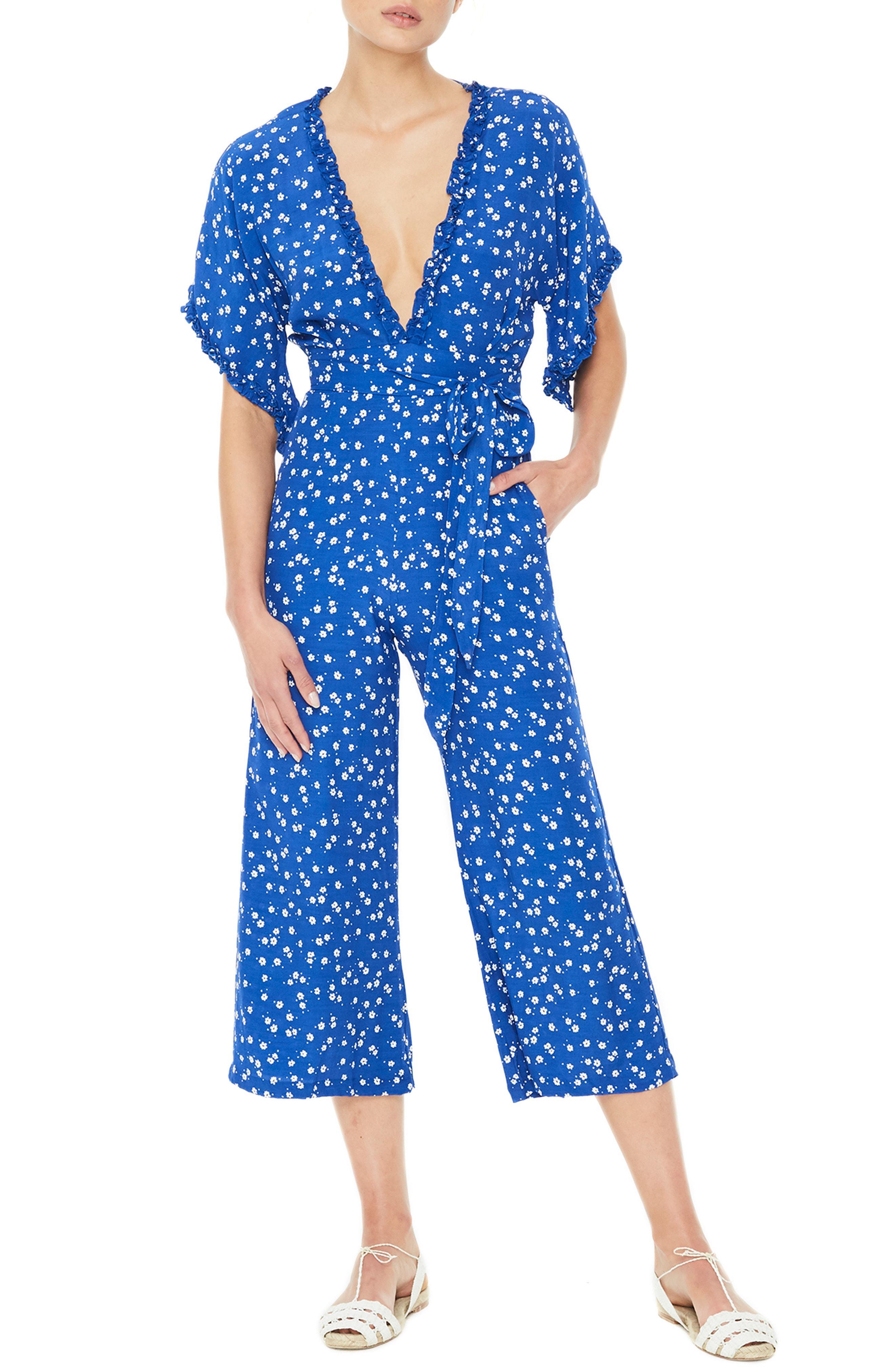 aea1a385201f Lyst - Faithfull The Brand La Villa Jumpsuit in Blue - Save 41%