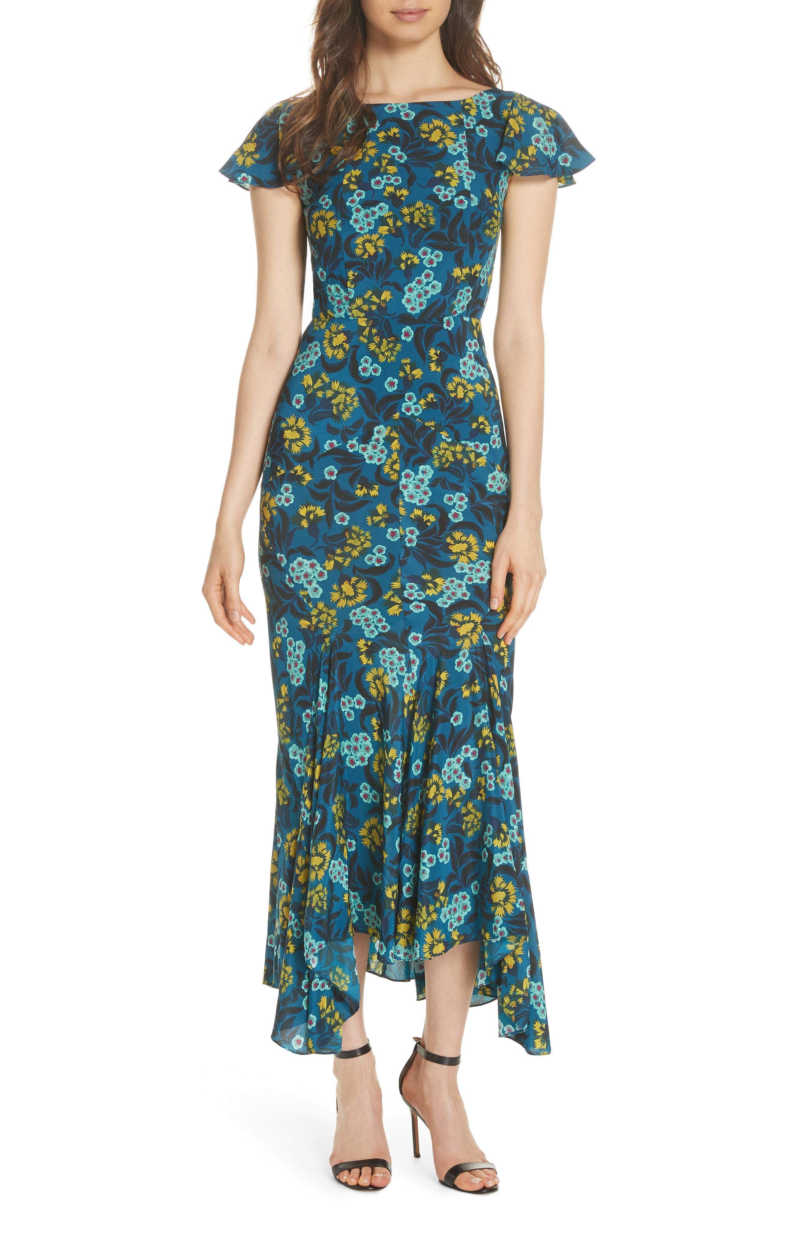 aef9eec9f015 Saloni Daphne Azalea Print Dress in Blue - Lyst