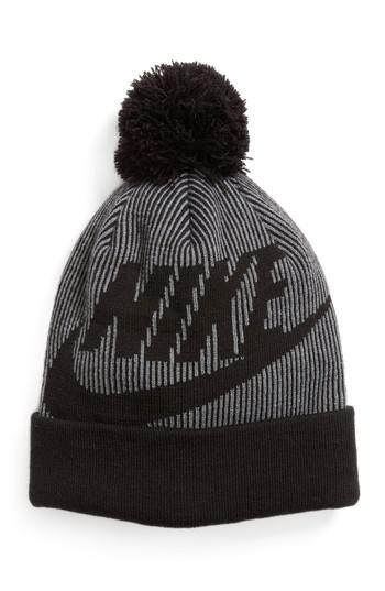 separation shoes 43be7 47367 Lyst - Nike Sportswear Beanie With Removable Pom in Black for Men