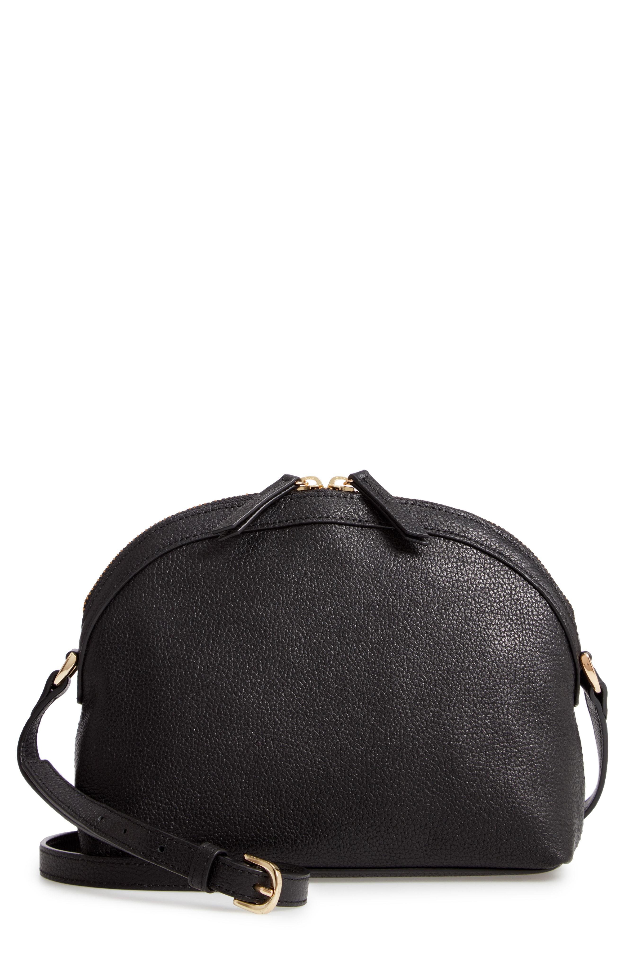 86615b3569ad Nordstrom Half Moon Leather Crossbody Bag - in Black - Lyst