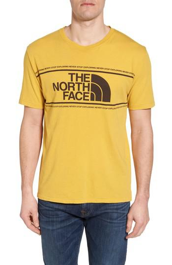 668d58add The North Face Well Loved Edge To Edge T-shirt in Yellow for Men - Lyst