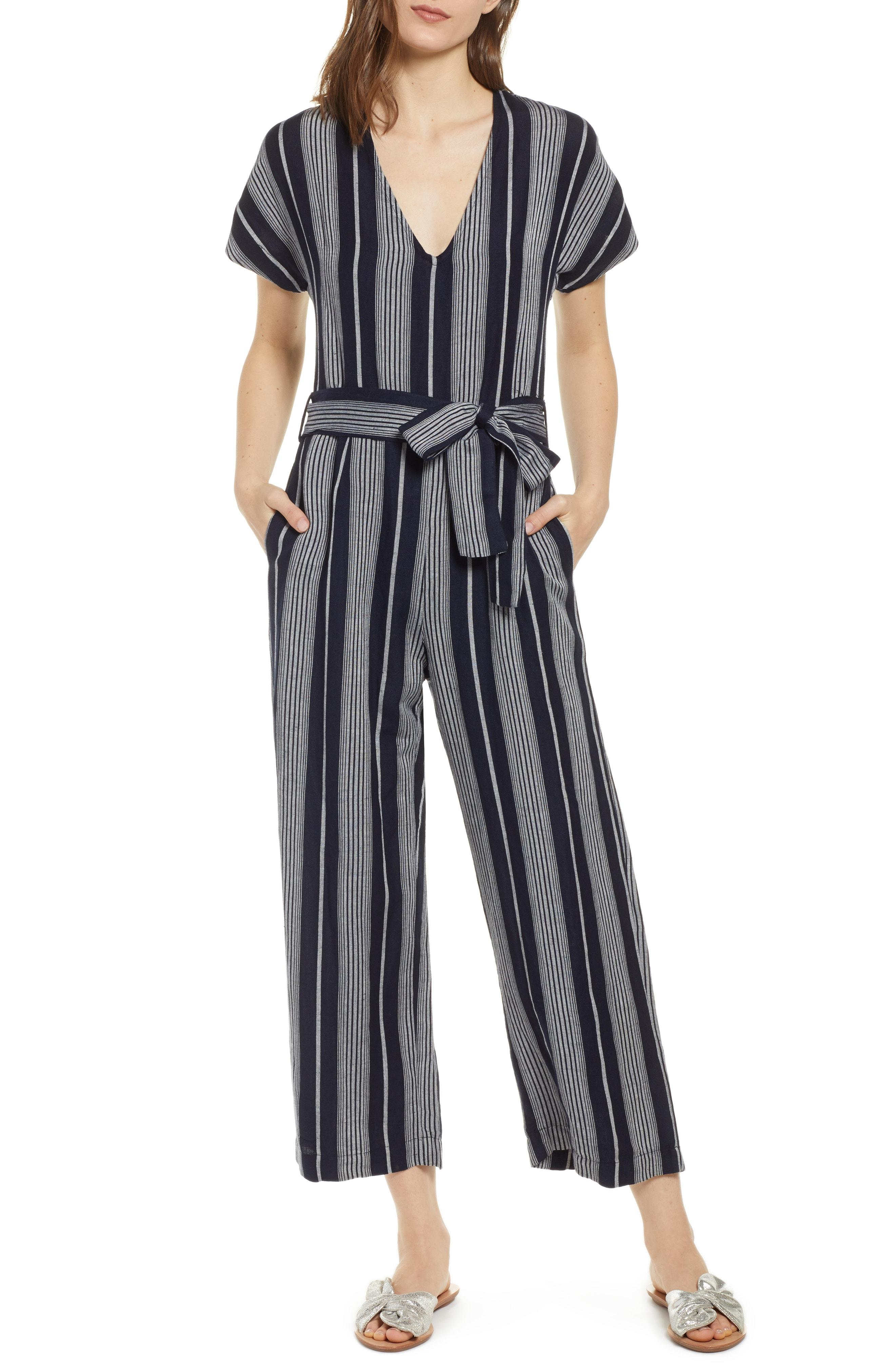 1711c8a7028 Lyst - Rails Angela Stripe Jumpsuit in Black