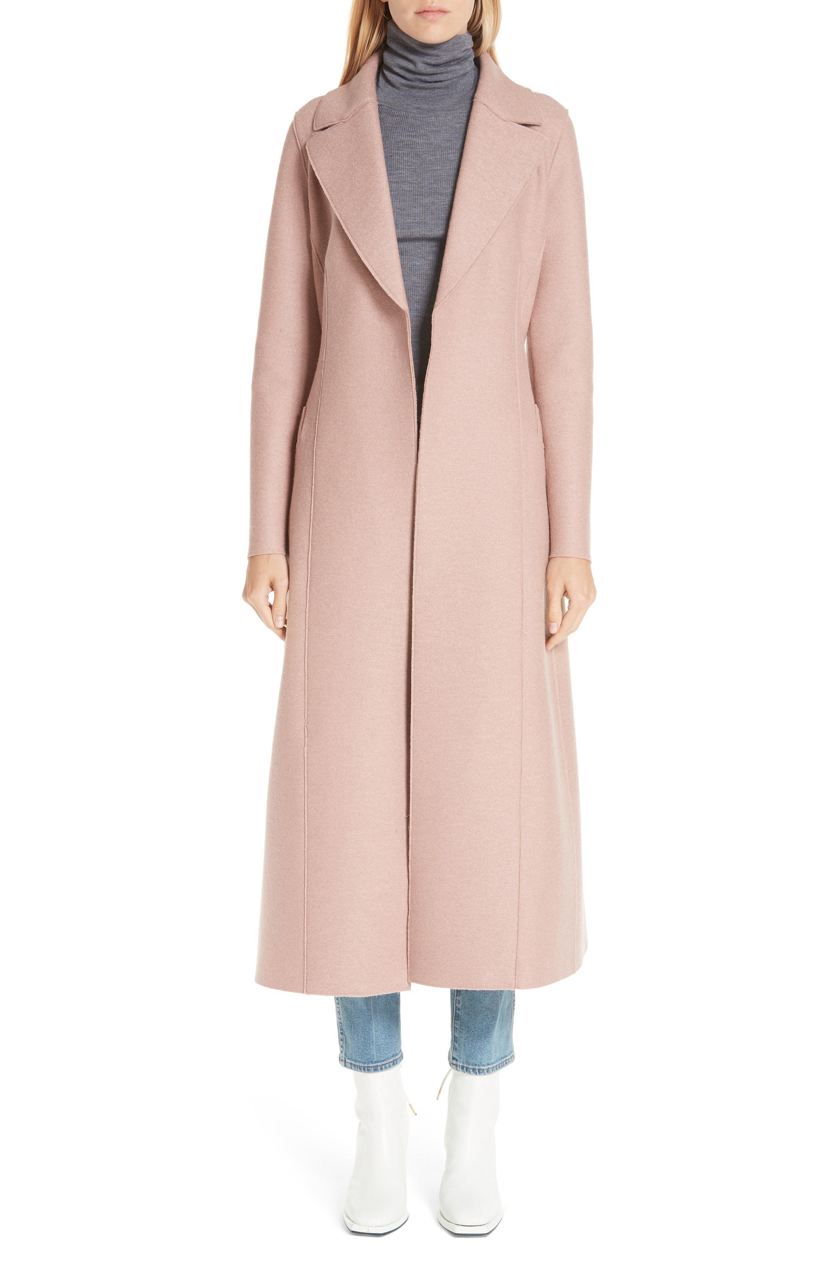 3c06bff9929b6 Lyst - Harris Wharf London Long Wool Duster Coat in Natural