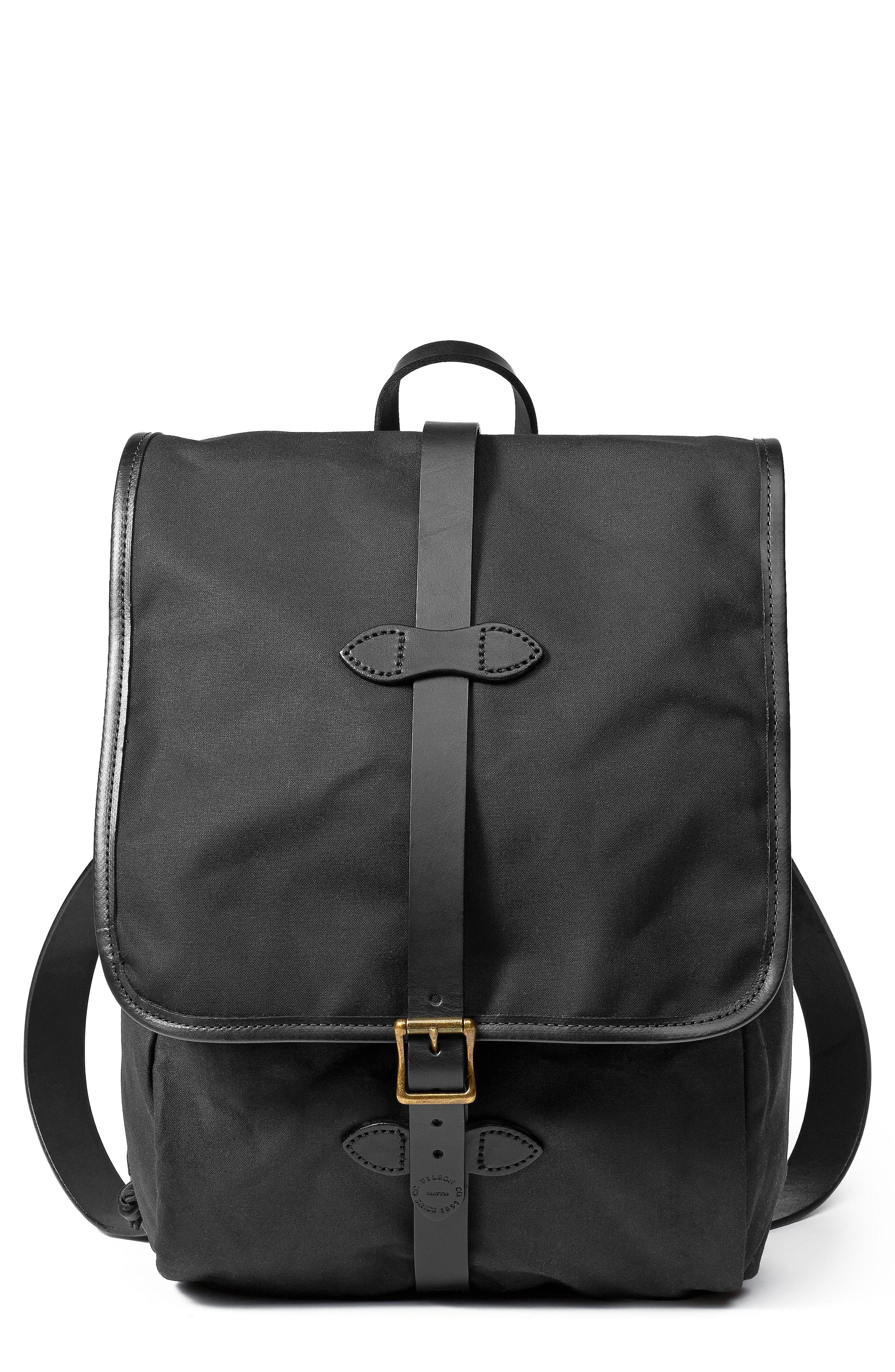 d2a72b866709 Lyst - Filson Tin Cloth Backpack in Black for Men