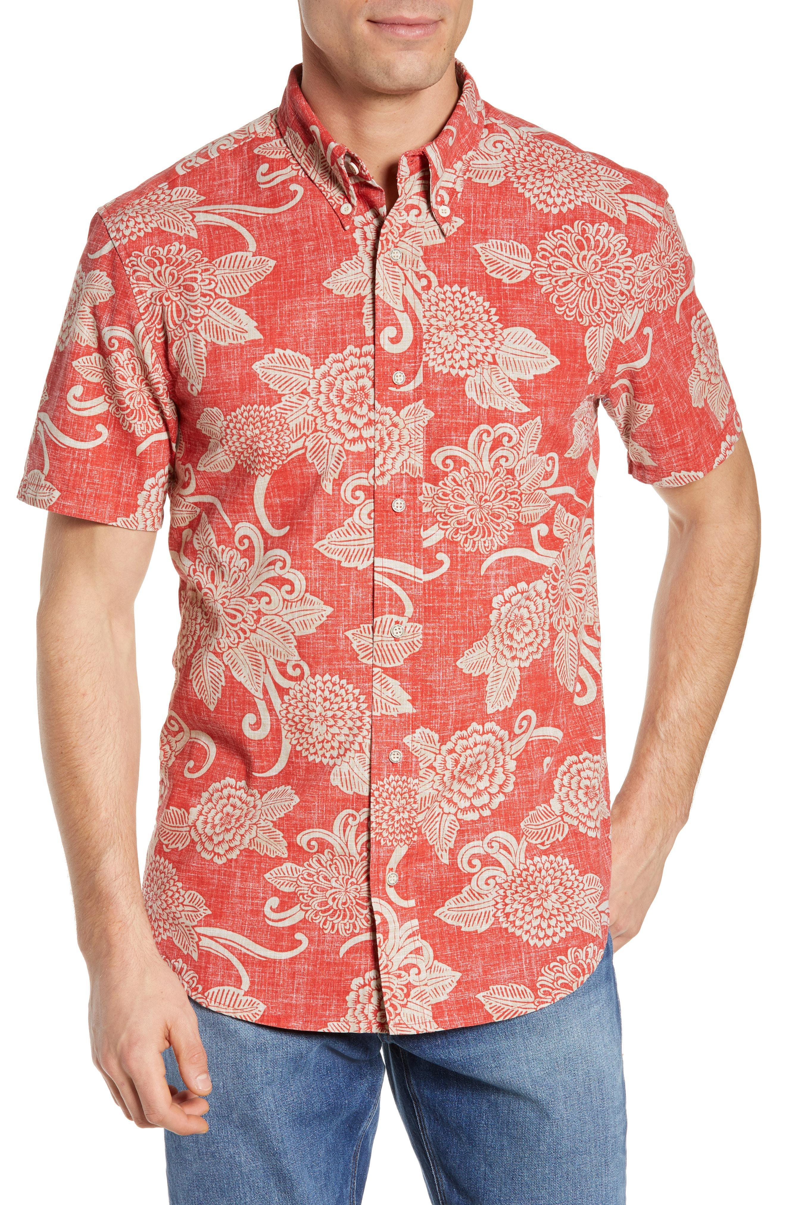 dc0ec600 Lyst - Reyn Spooner Opti Mums Regular Fit Sport Shirt in Red for Men