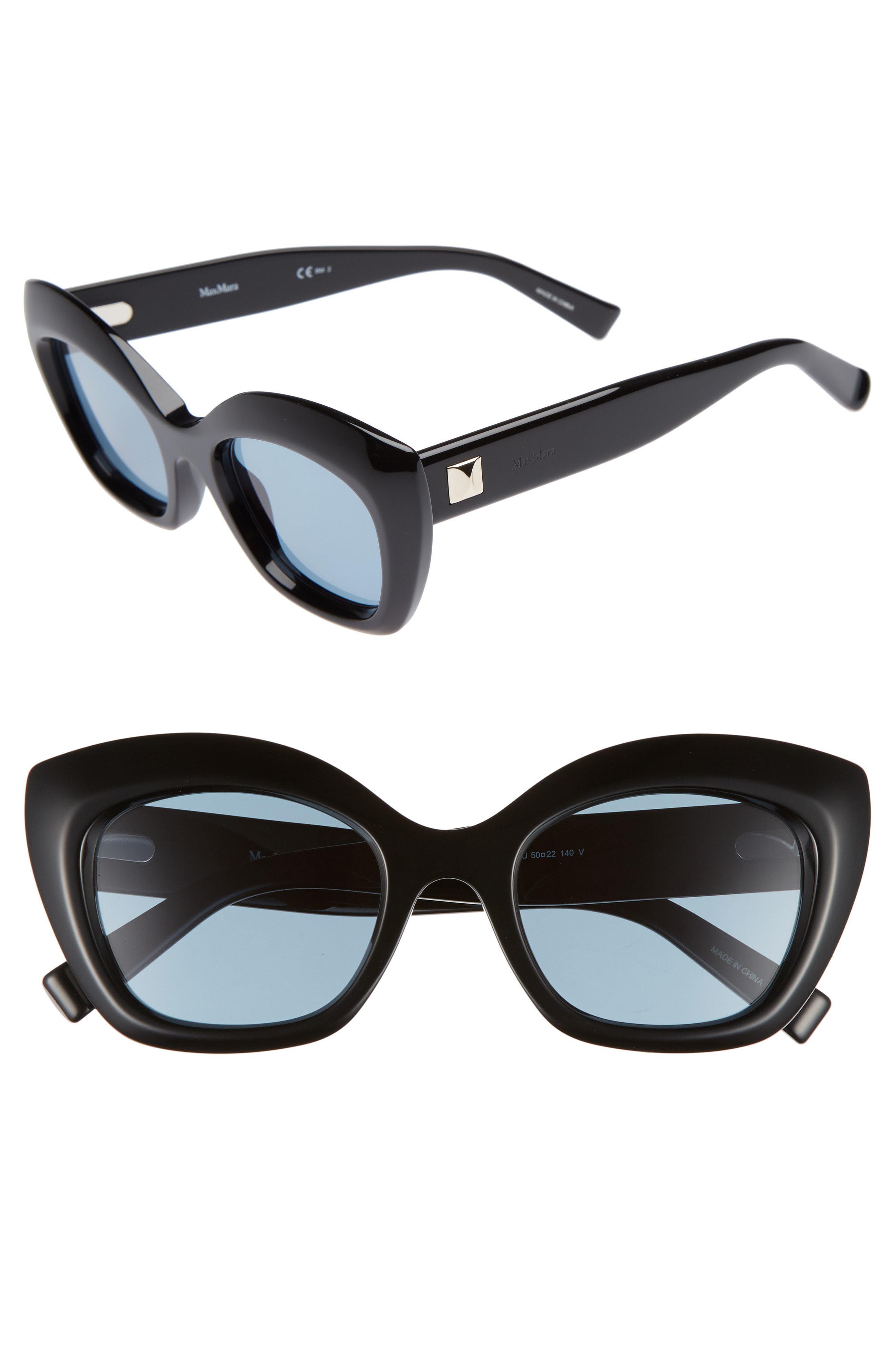 518c0de9877 Lyst - Max Mara Prism Vii 50mm Gradient Cat Eye Sunglasses in Black
