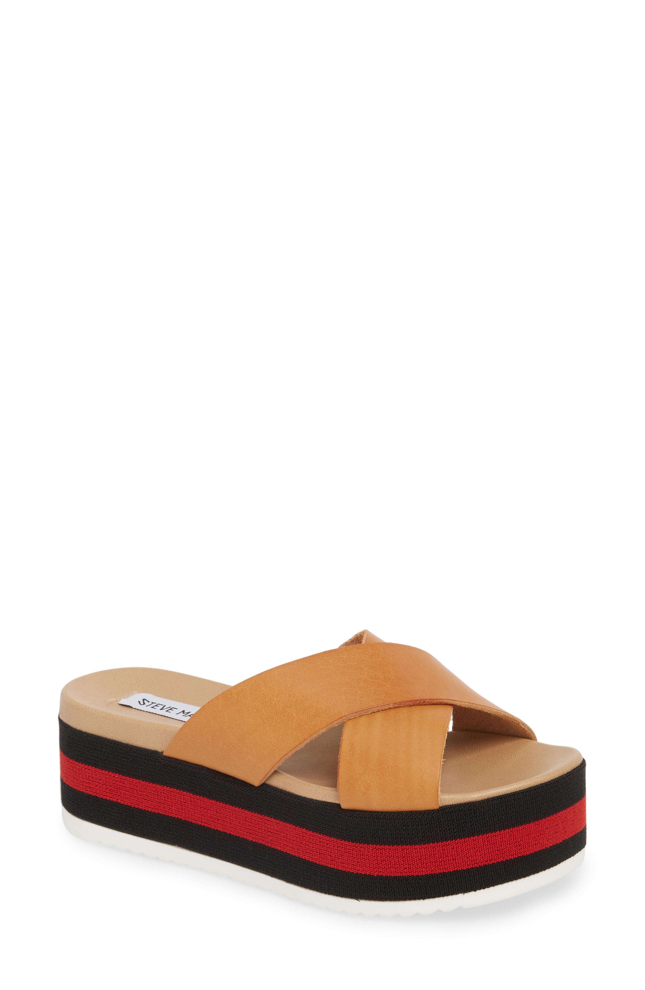 5b4cfd6e8b3 Lyst - Steve Madden Asher Slide Sandal in Brown