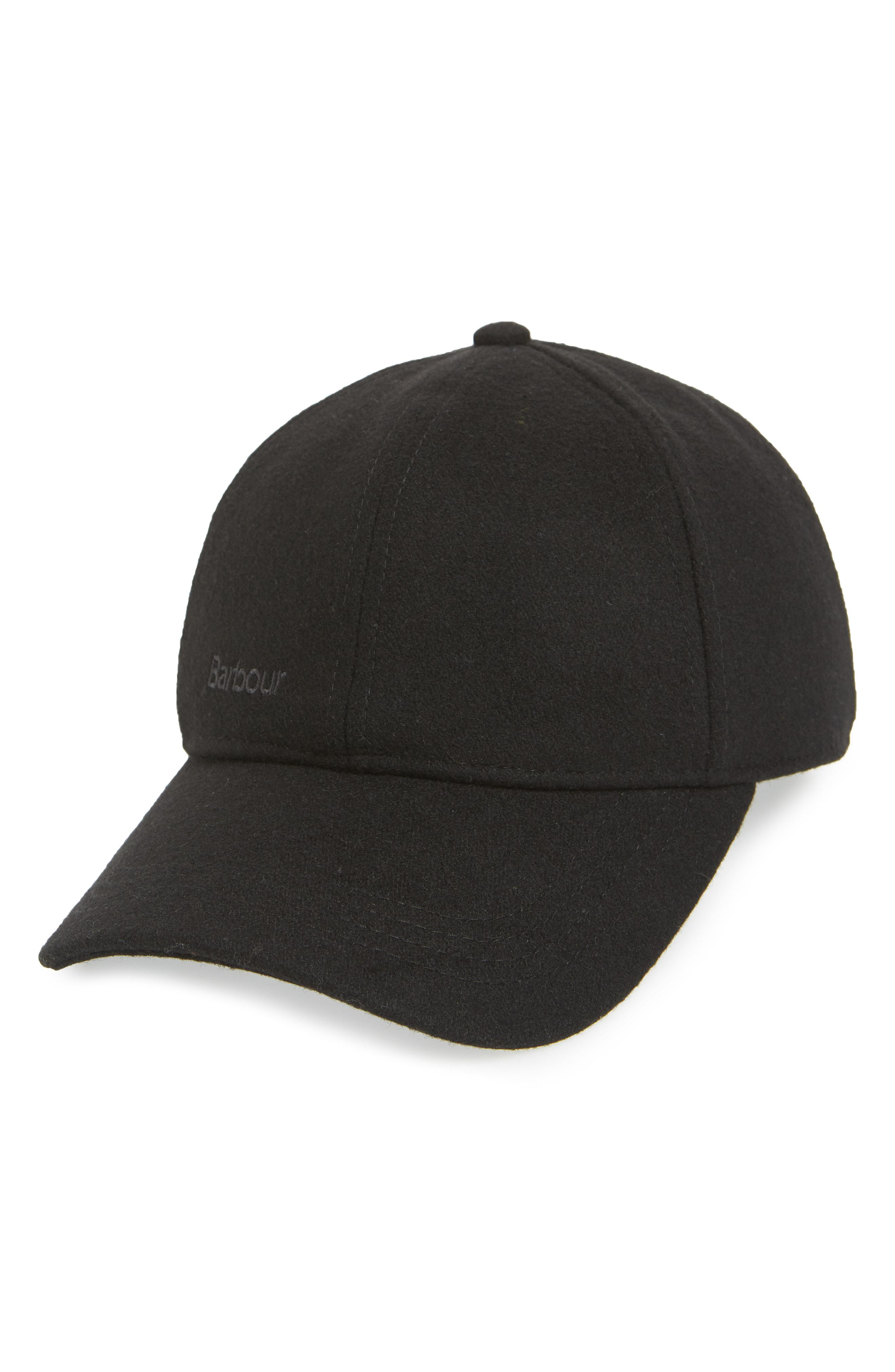 f72f2d92c40 Lyst - Barbour Coopworth Wool Blend Baseball Cap in Black for Men