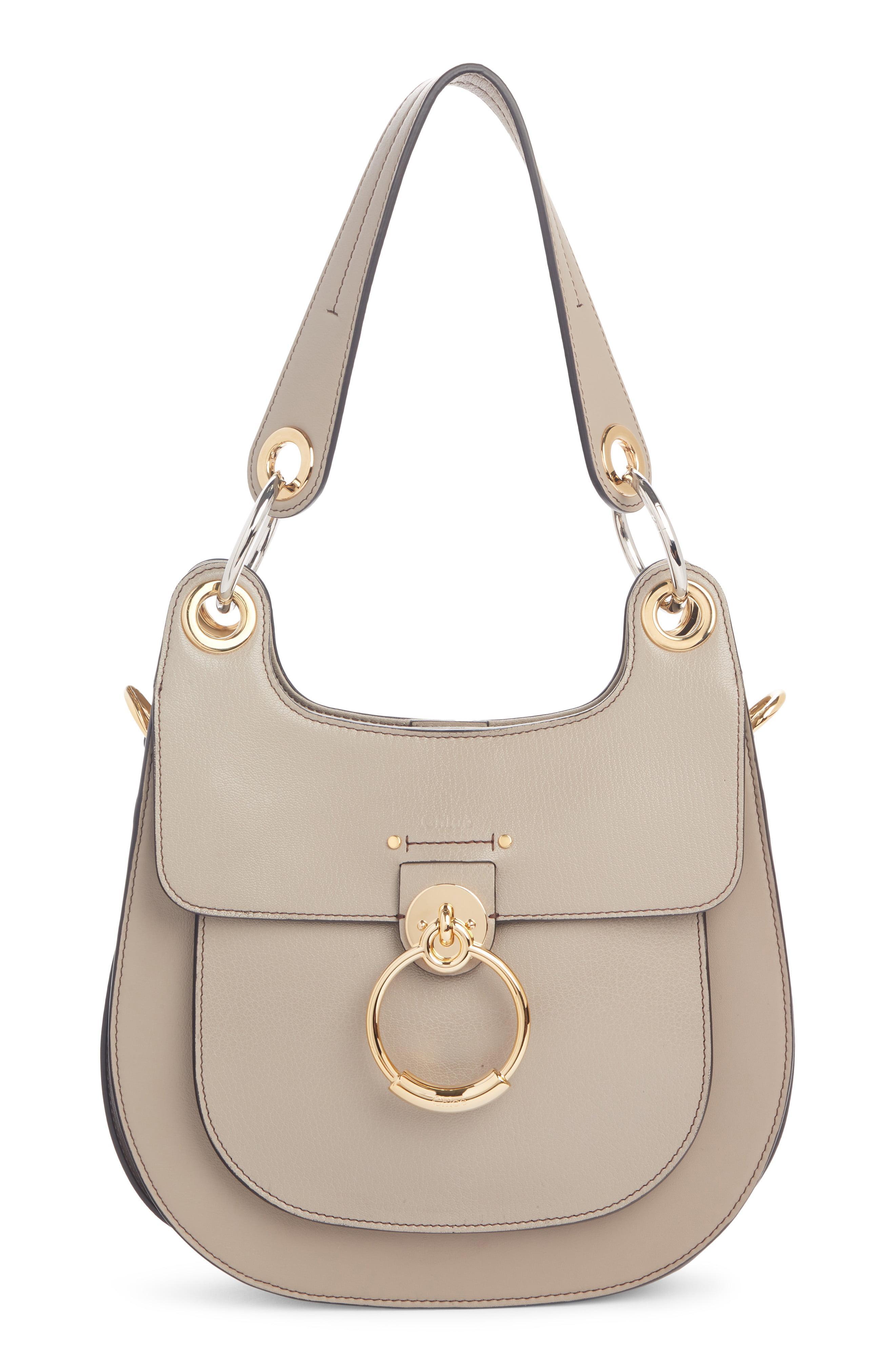 920020972d94 Lyst - Chloé Chloé Medium Tess Calfskin Leather Hobo Bag in Gray