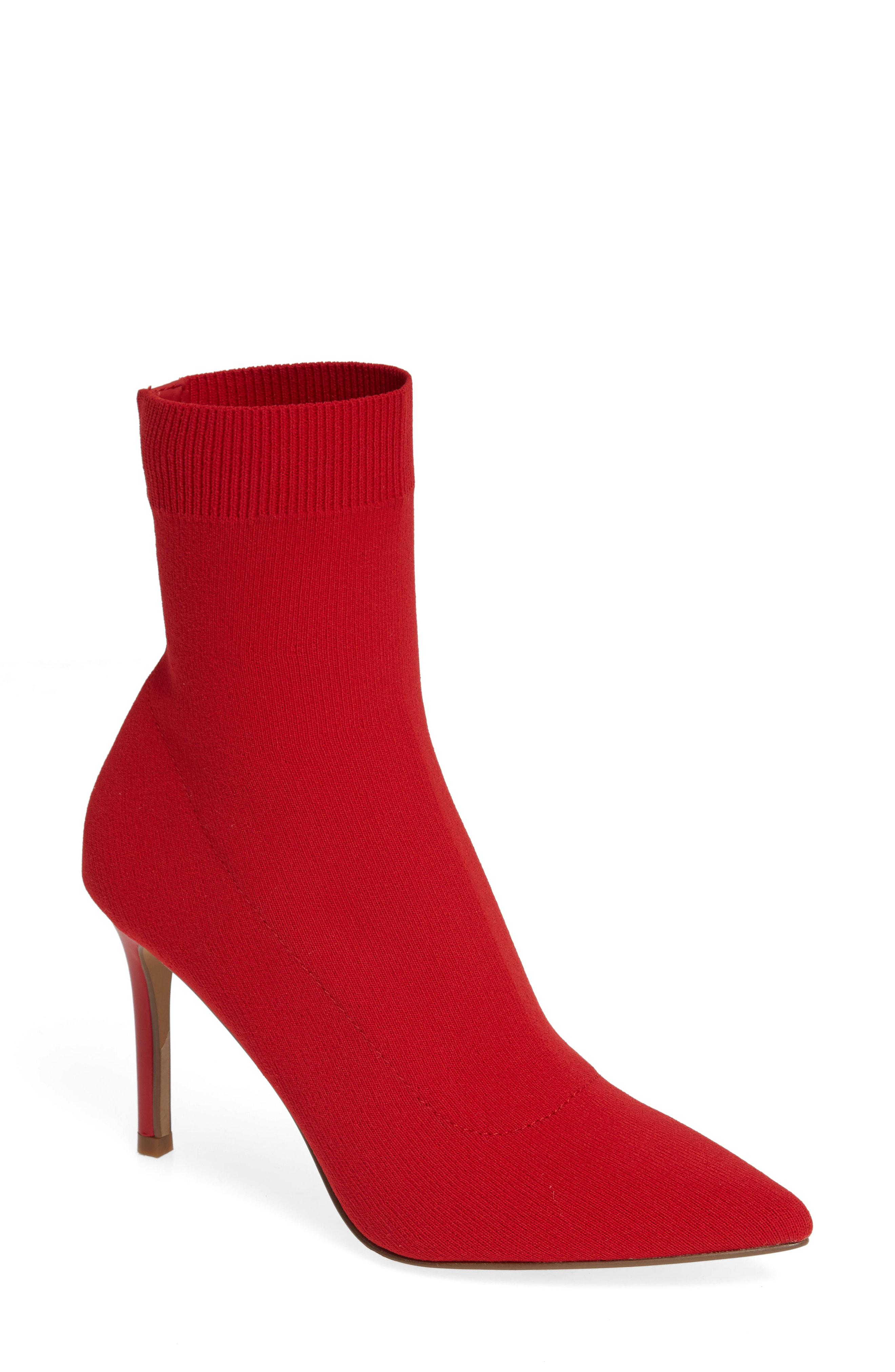 21f7e698669 Lyst - Steve Madden Claire Bootie in Red