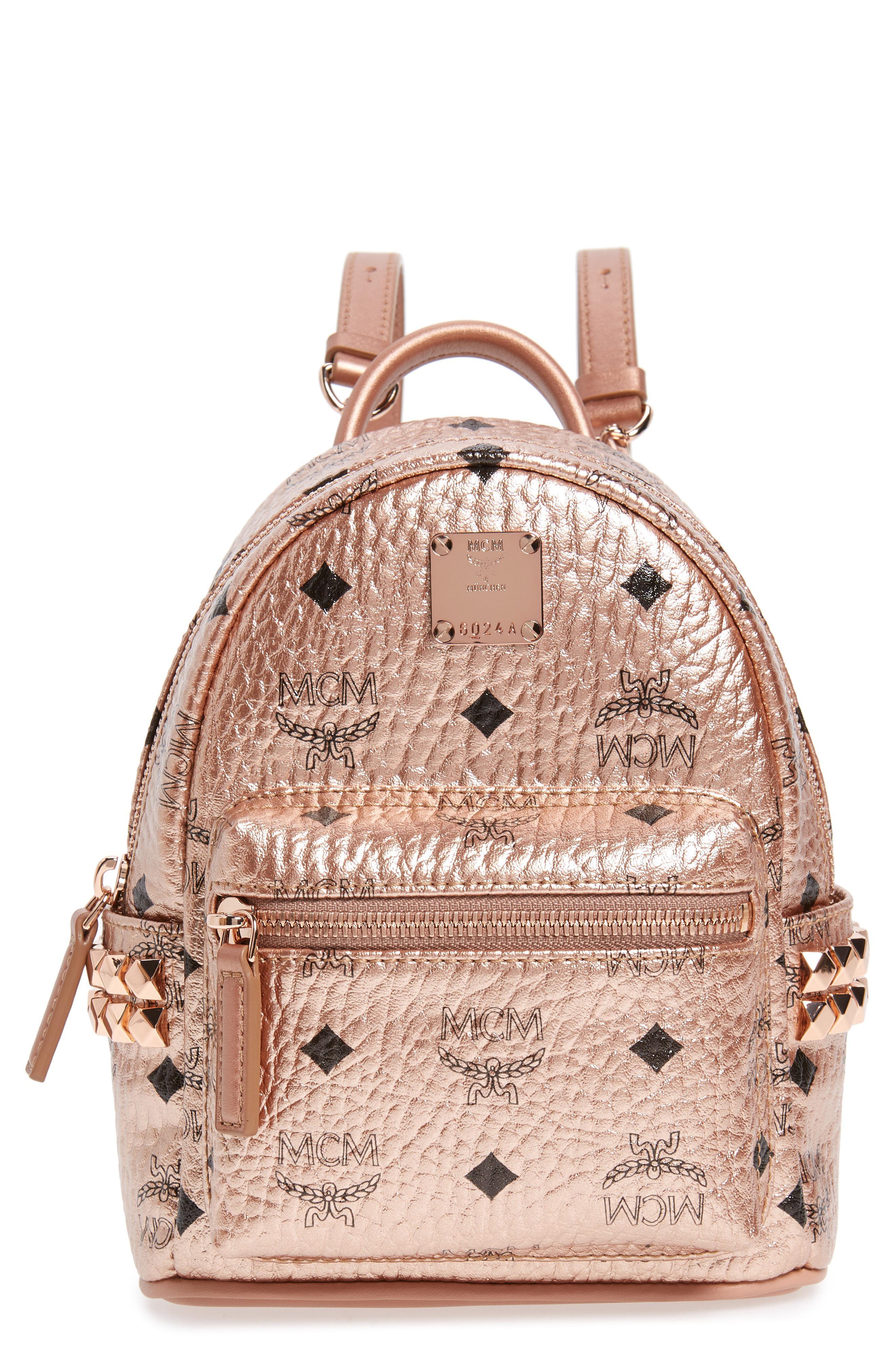 21554744ed80 MCM - Pink X-mini Stark Side Stud Coated Canvas Backpack - - Lyst. View  fullscreen