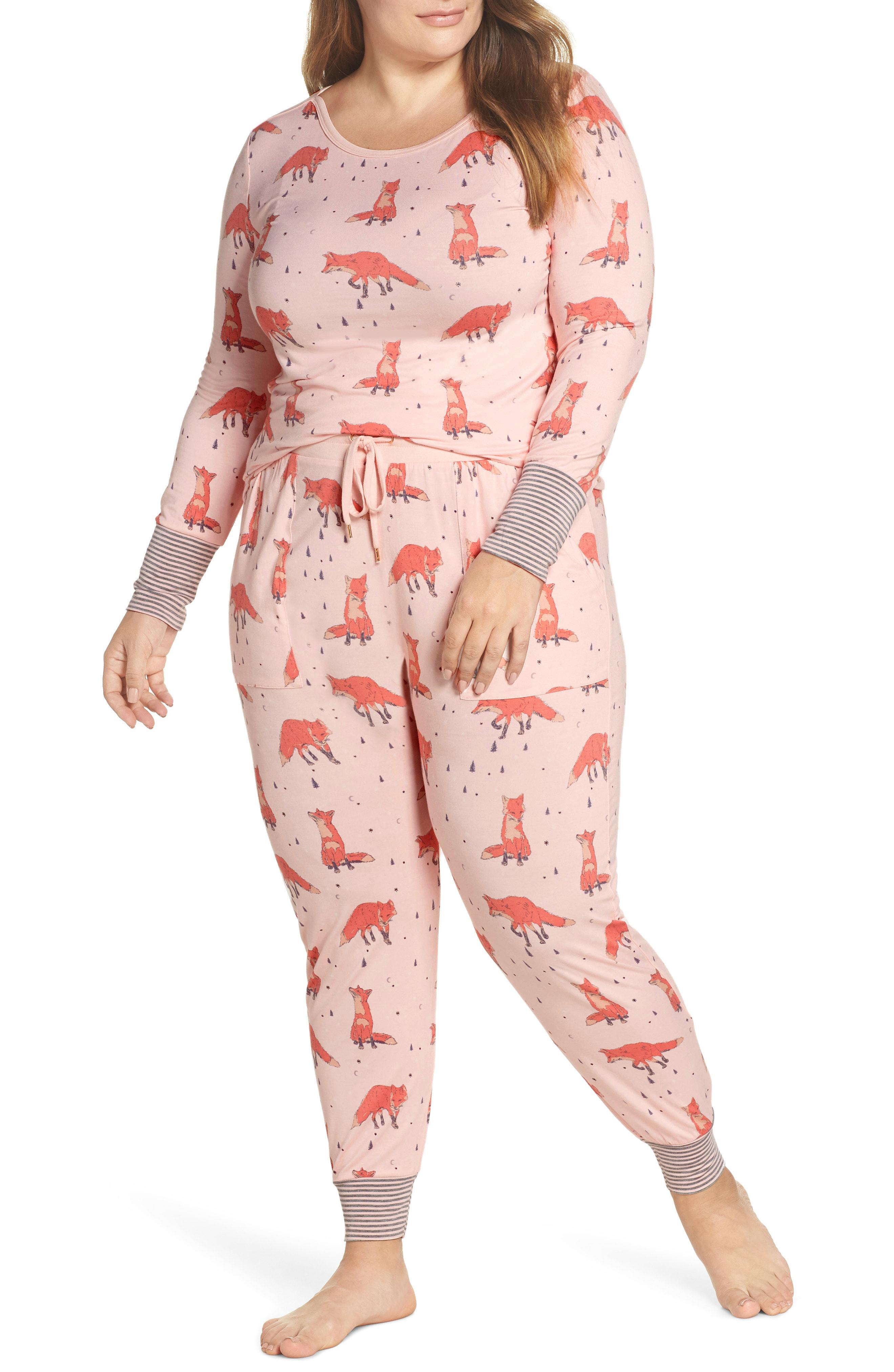 90a8e21fa5132 Lyst - Honeydew Intimates Jersey Pajamas in Pink