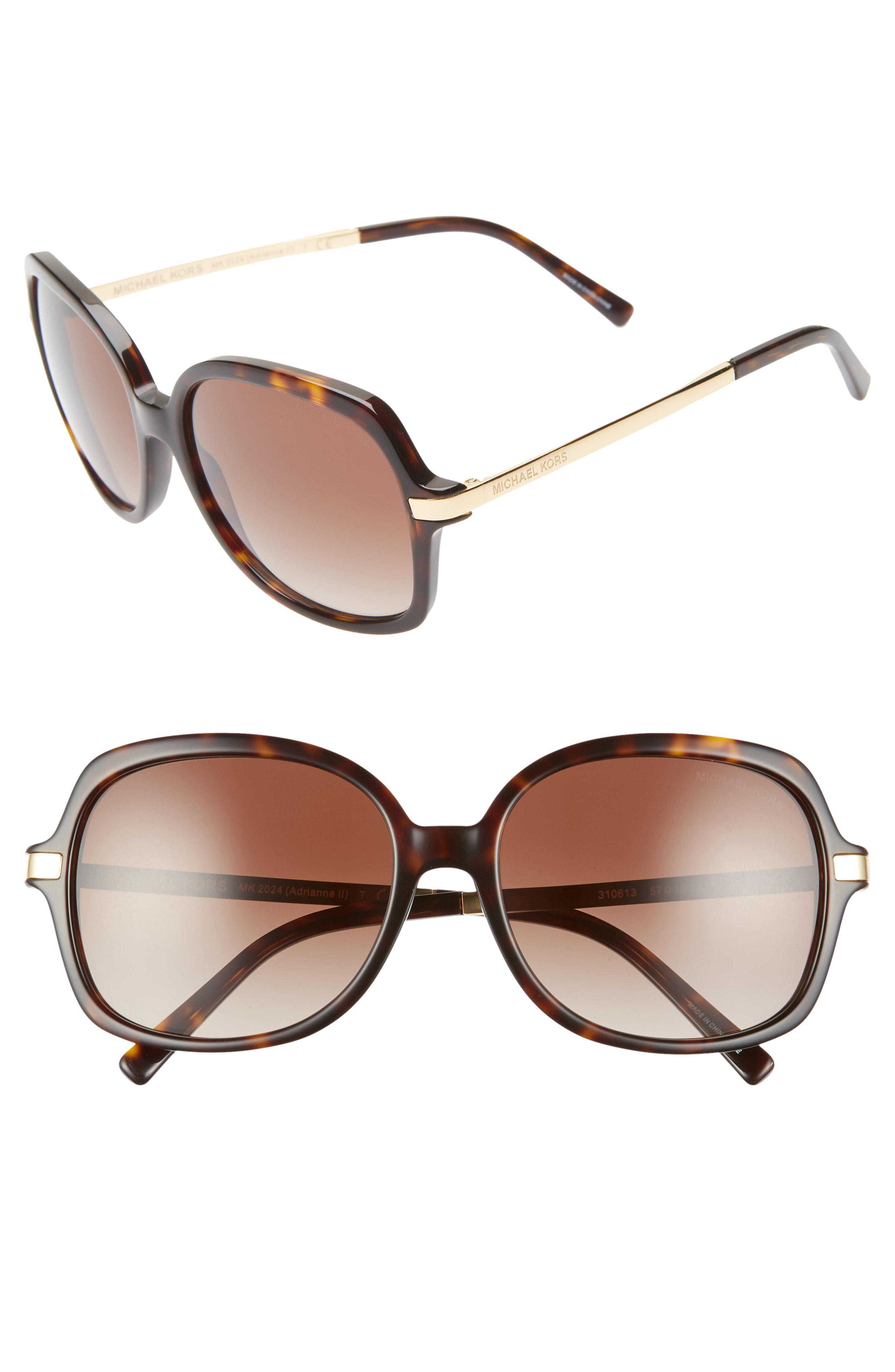 93c4a1970b5 Michael Kors - Brown 57mm Gradient Square Sunglasses - - Lyst. View  fullscreen