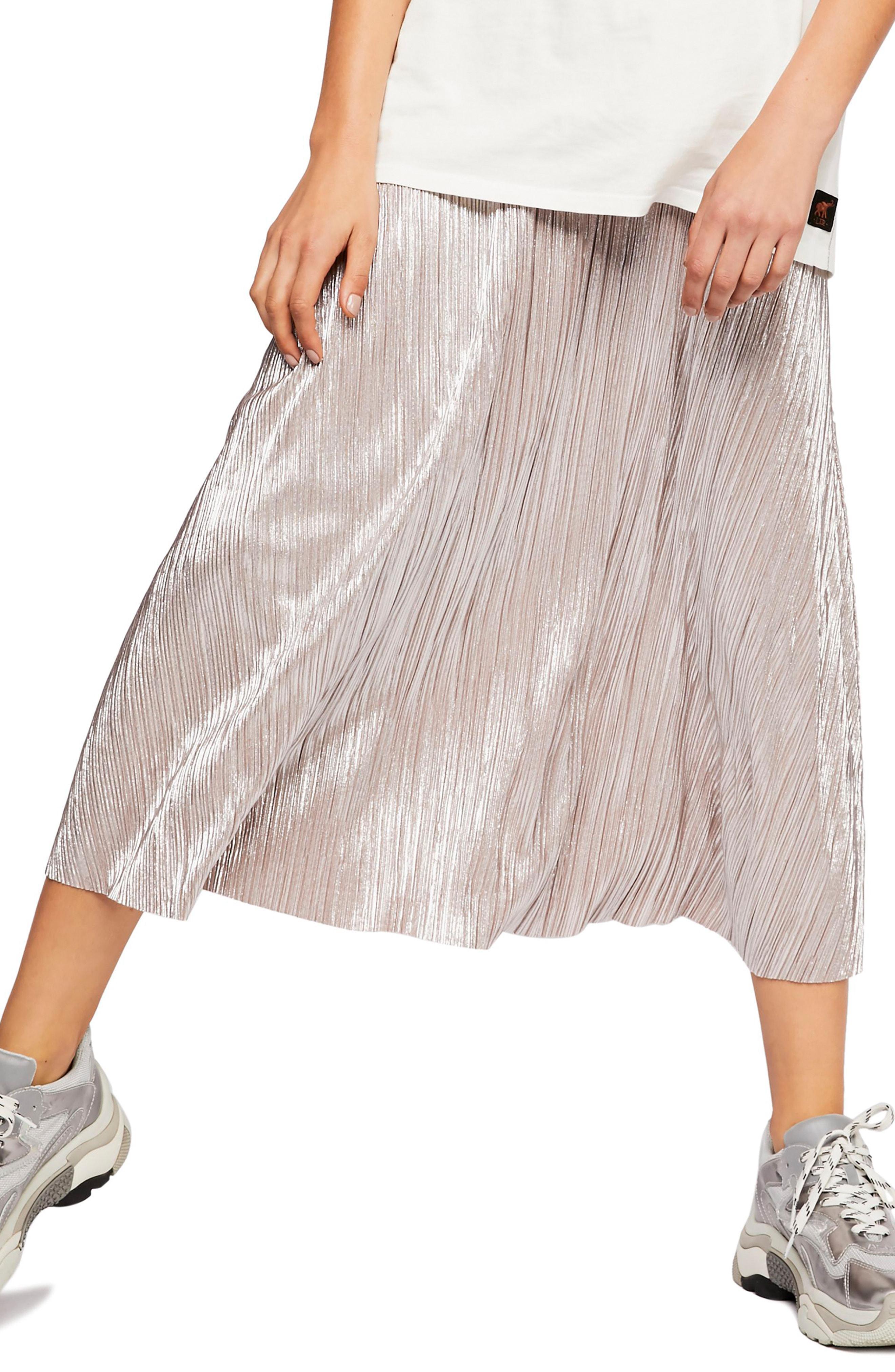 b79066a9c51f9 Lyst - Free People High Holiday Midi Skirt